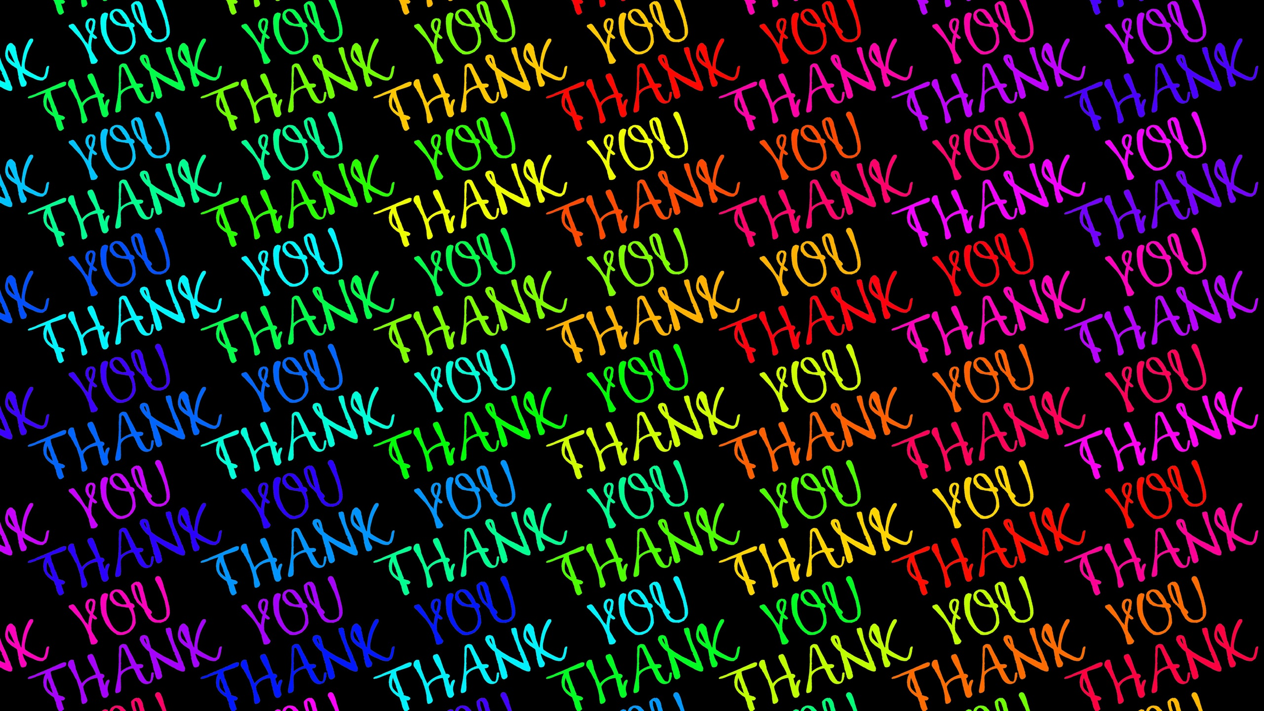 Wallpaper Colorful Thank You Text 3840x2160 Uhd 4k Picture Image