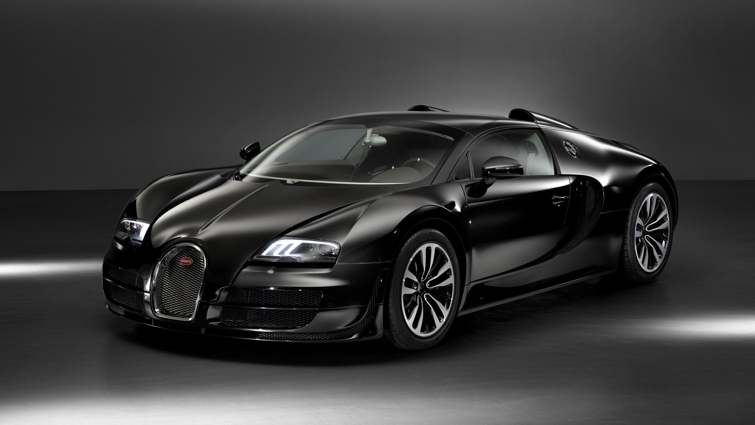 Wallpaper Bugatti Veyron Black Car 2560x1600 Hd Picture Image