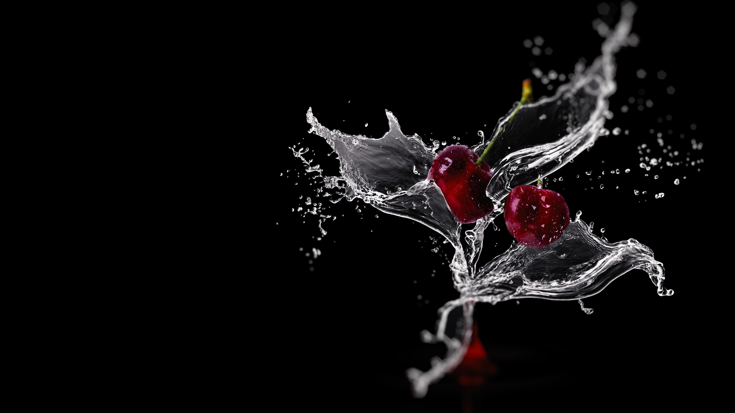 Cherry Splash Water Black Background 1080x1920 Iphone 876