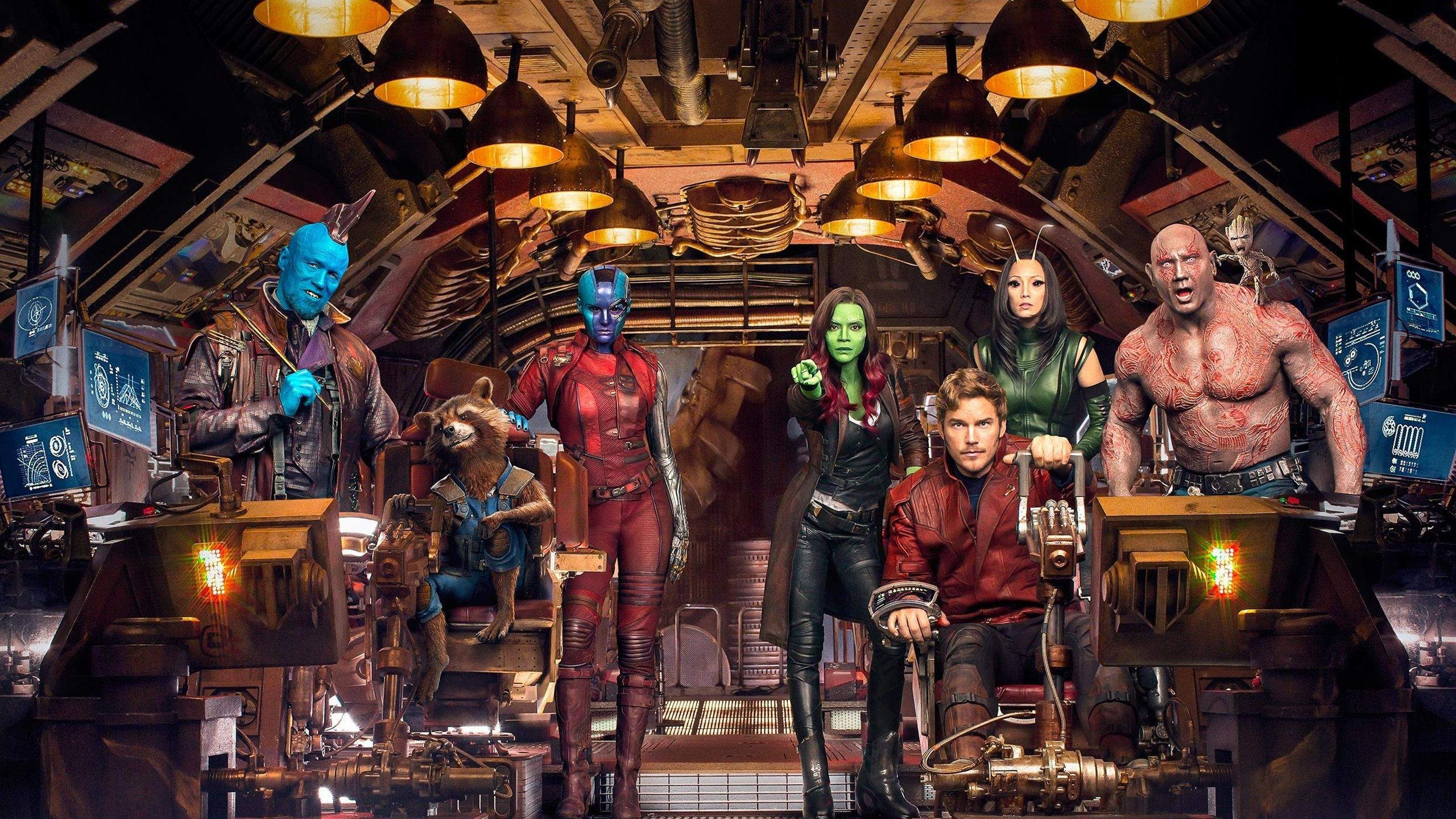 Wallpaper Guardians Of The Galaxy Vol 2 Characters In Spaceship