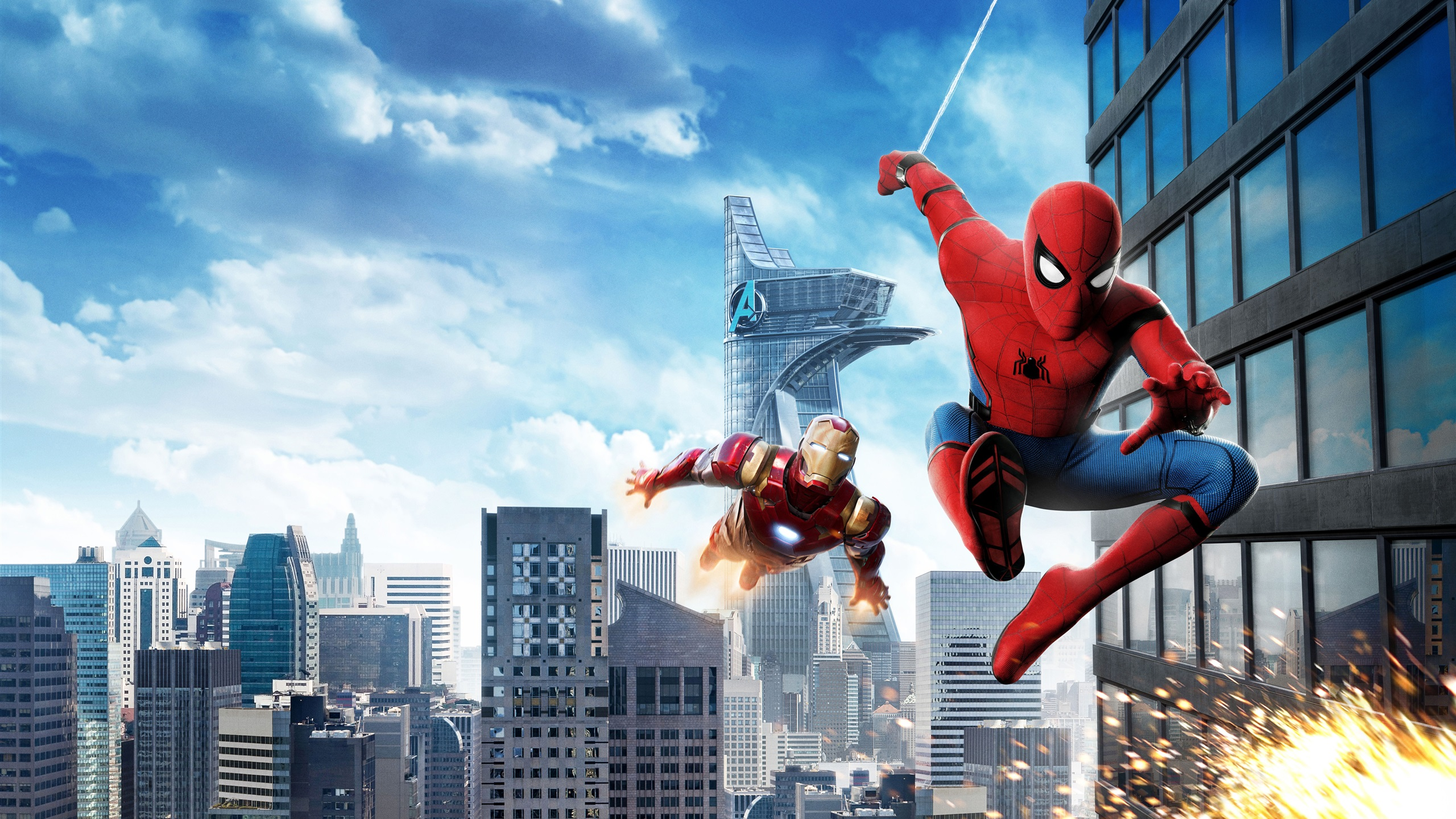 Wallpaper Spider Man Homecoming Iron Man 3840x2160 Uhd 4k Picture
