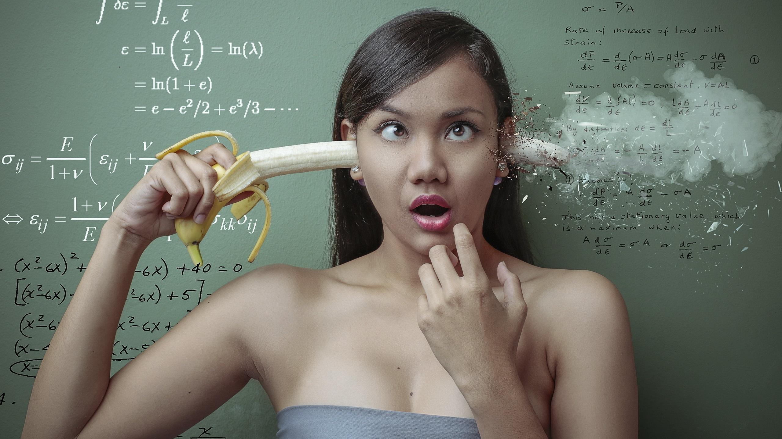 壁紙 創造的なデザイン 女の子 バナナ 数学 2560x1600 Hd 無料の