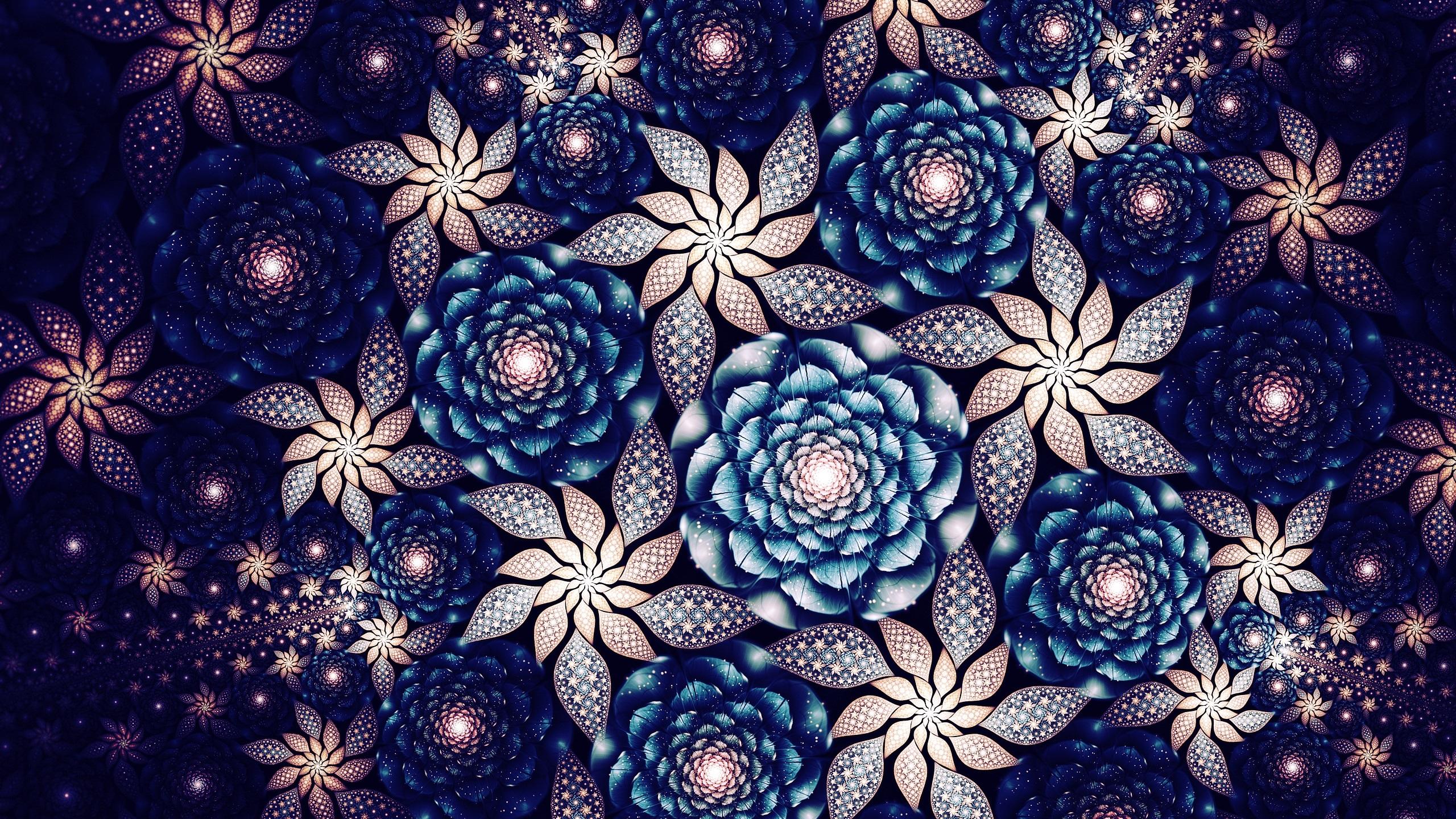 Fondo De Pantalla Abstracto Flores Y Circulos: Fondos De Pantalla Hermosas Flores, Patrones Abstractos De