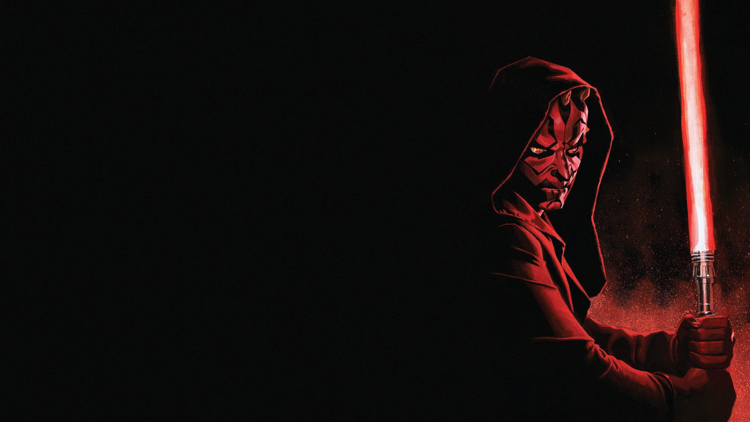 Wallpaper Star Wars Darth Maul Lightsaber Art Picture 2560x1440 Qhd Picture Image