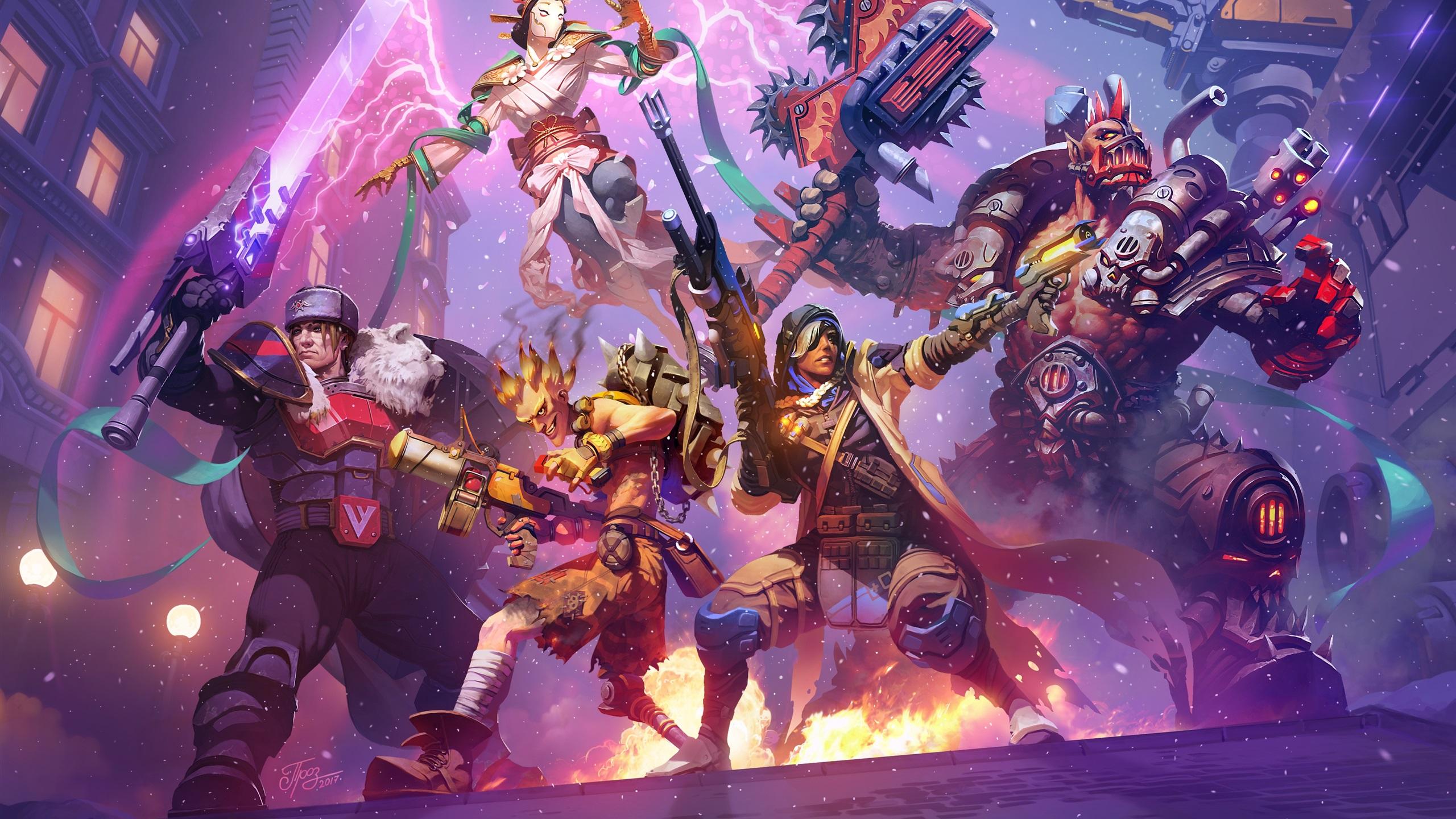 Fondos De Pantalla Heroes Of The Storm Overwatch Imagen De