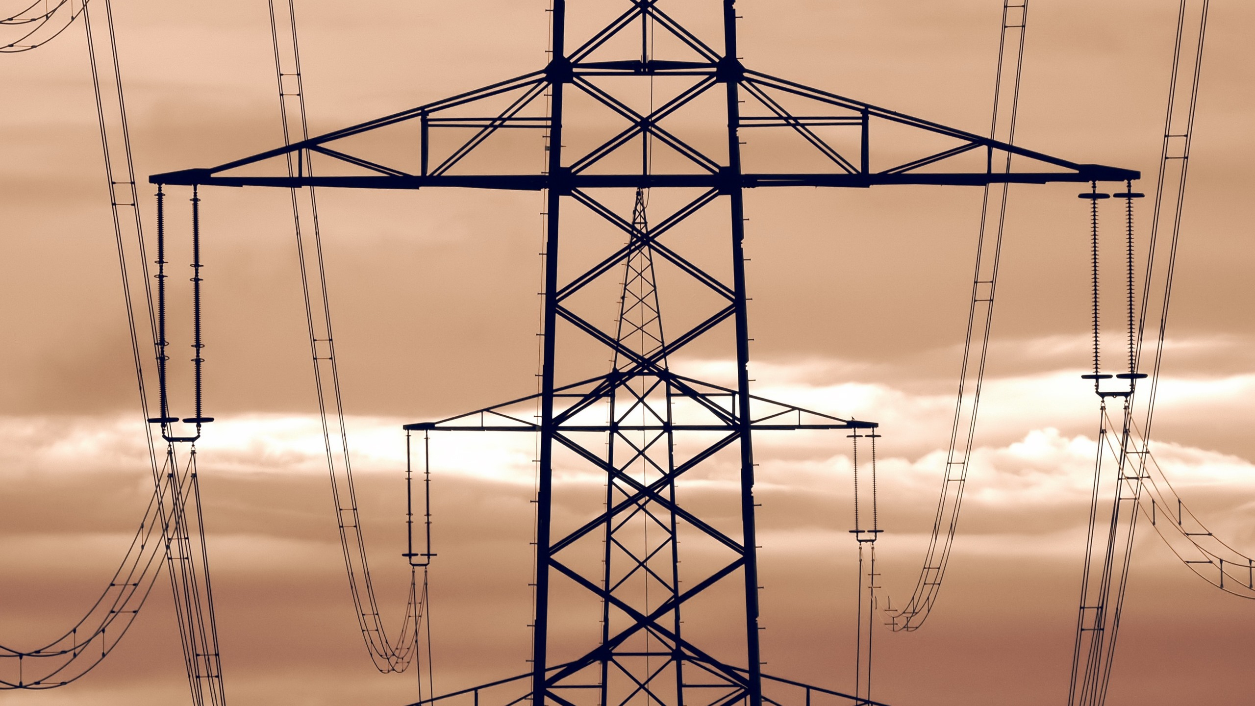 Wallpaper Power Lines Metal Tower 2560x1600 Hd Picture Image