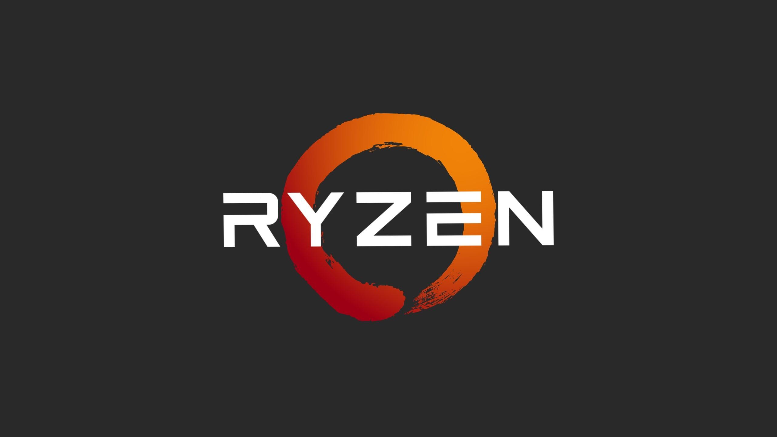 壁紙 Amd Ryzenプロセッサーのロゴ 2560x1440 Qhd 無料のデスクトップ