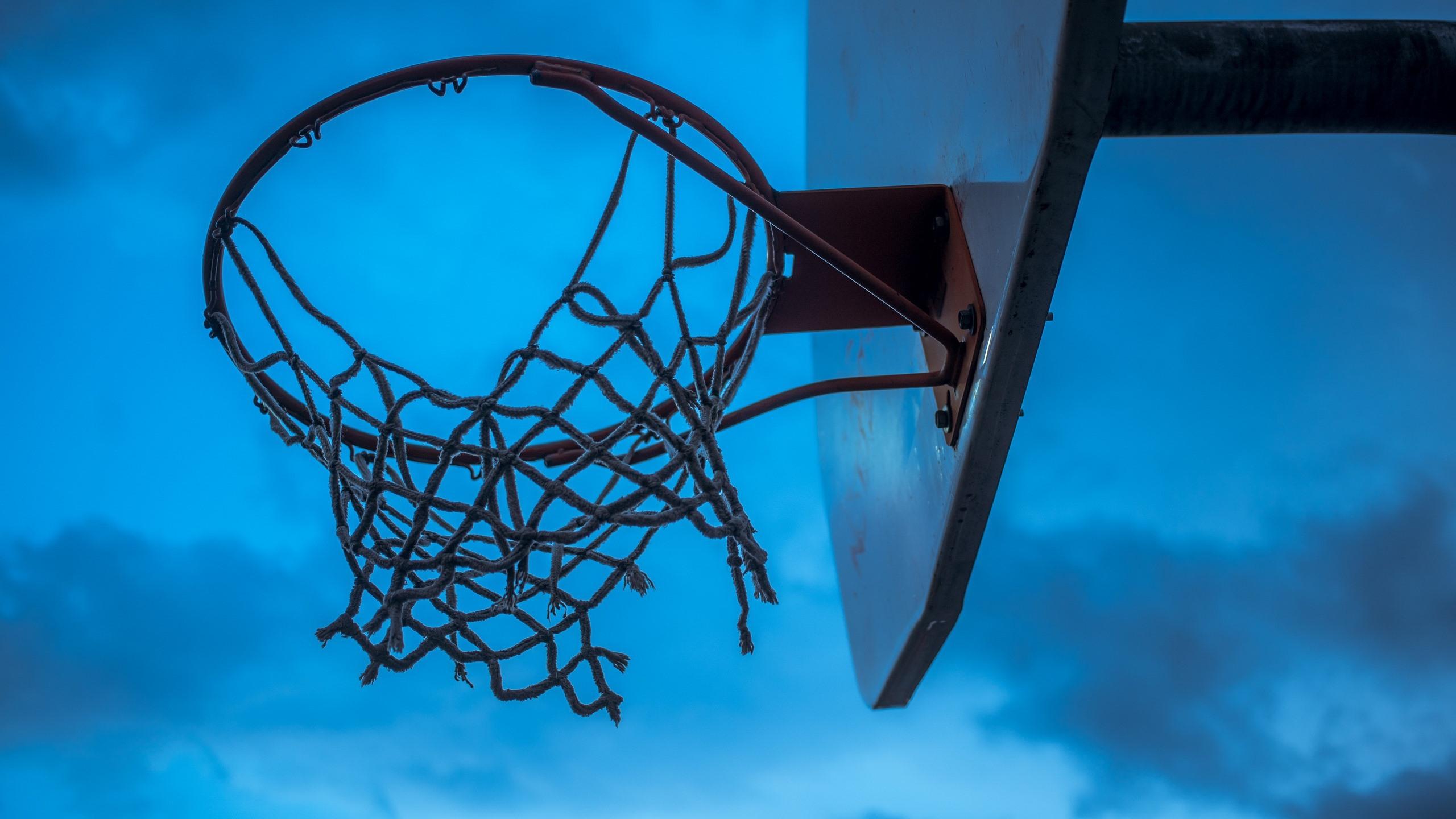 壁紙 バスケットボール ネット 青空 2560x1600 Hd 無料の