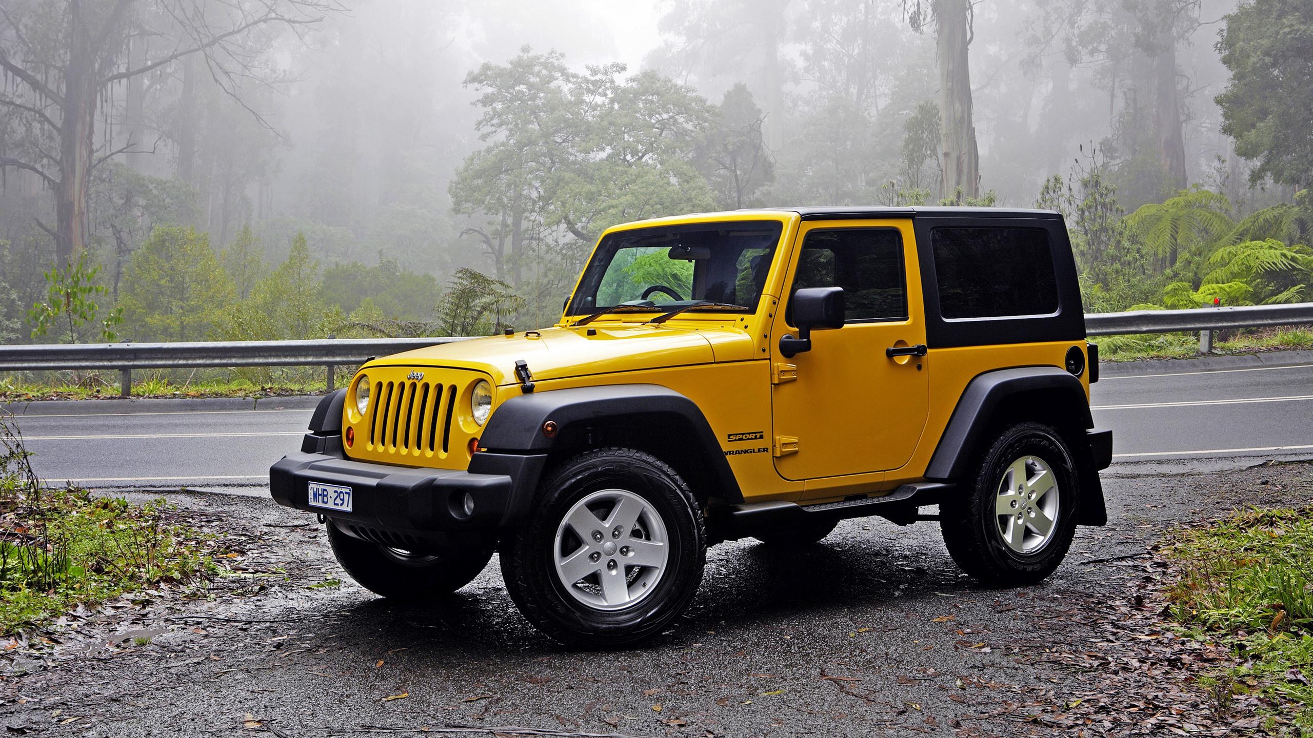 Jeep Wrangler Yellow Car 828x1792 Iphone Xr Wallpaper