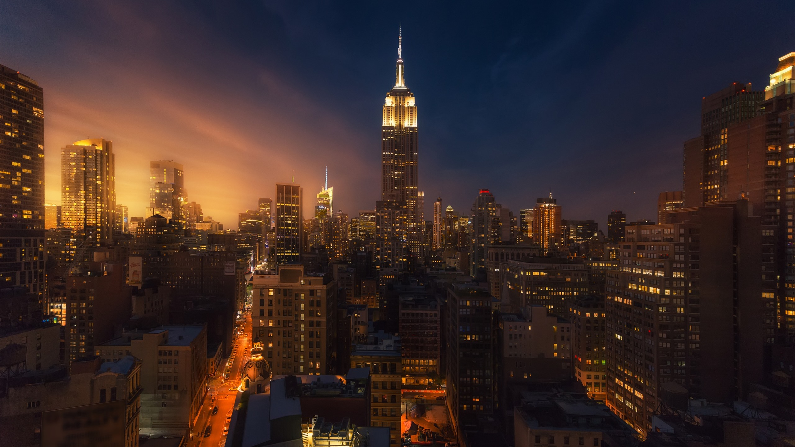 New York City Night Skyscrapers Lights Usa 750x1334