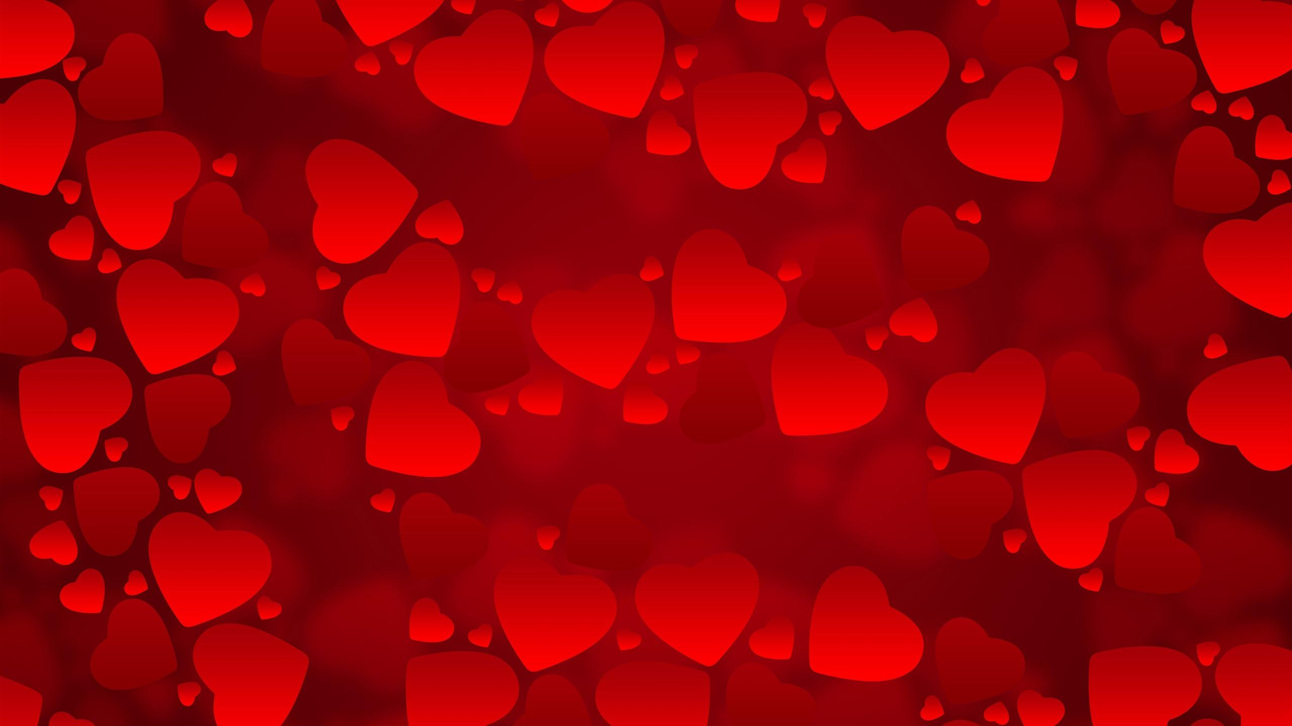 Fonds Décran Beaucoup De Coeurs Rouges Damour Fond