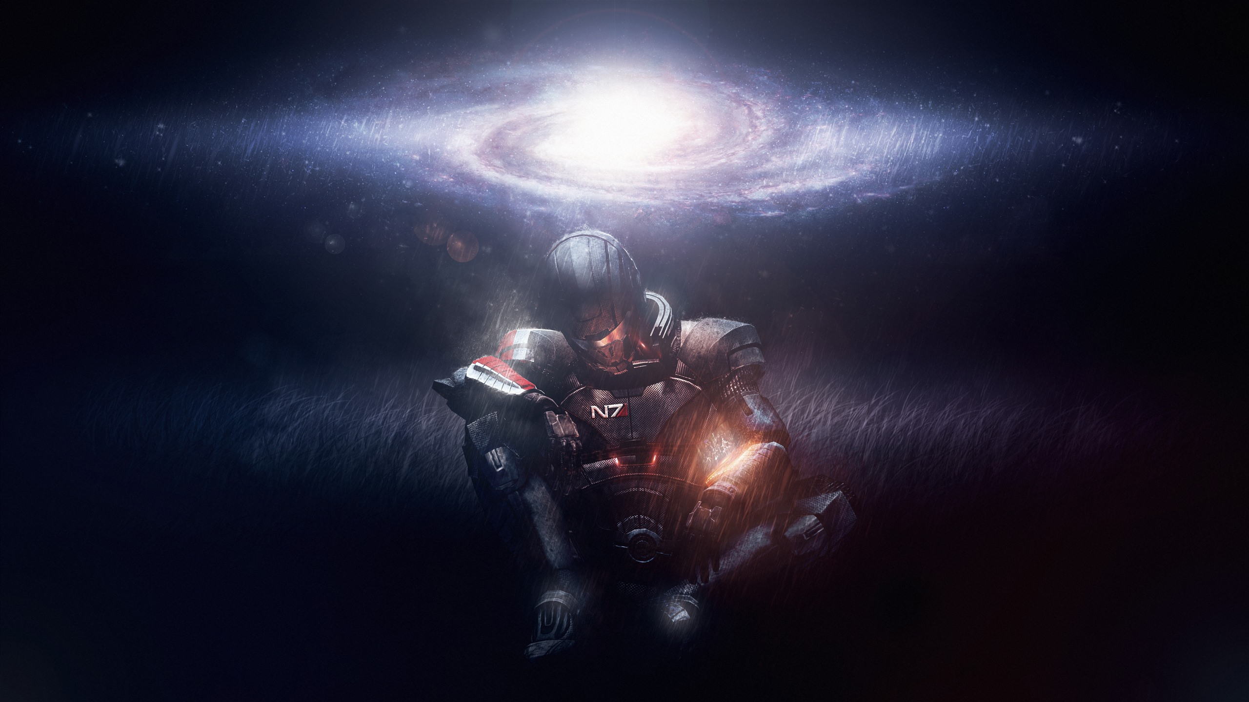 Mass Effect Warrior Galaxy Stars 1242x2688 Iphone 11 Pro Xs Max