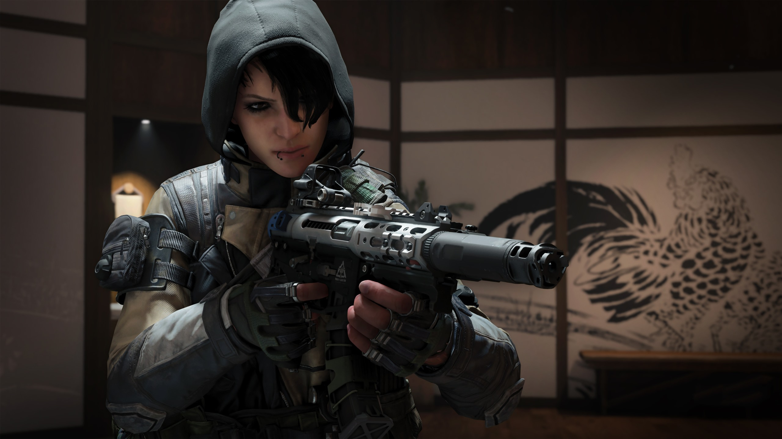 Wallpaper Call Of Duty Black Ops 4 Soldier Weapon 3840x2160 Uhd