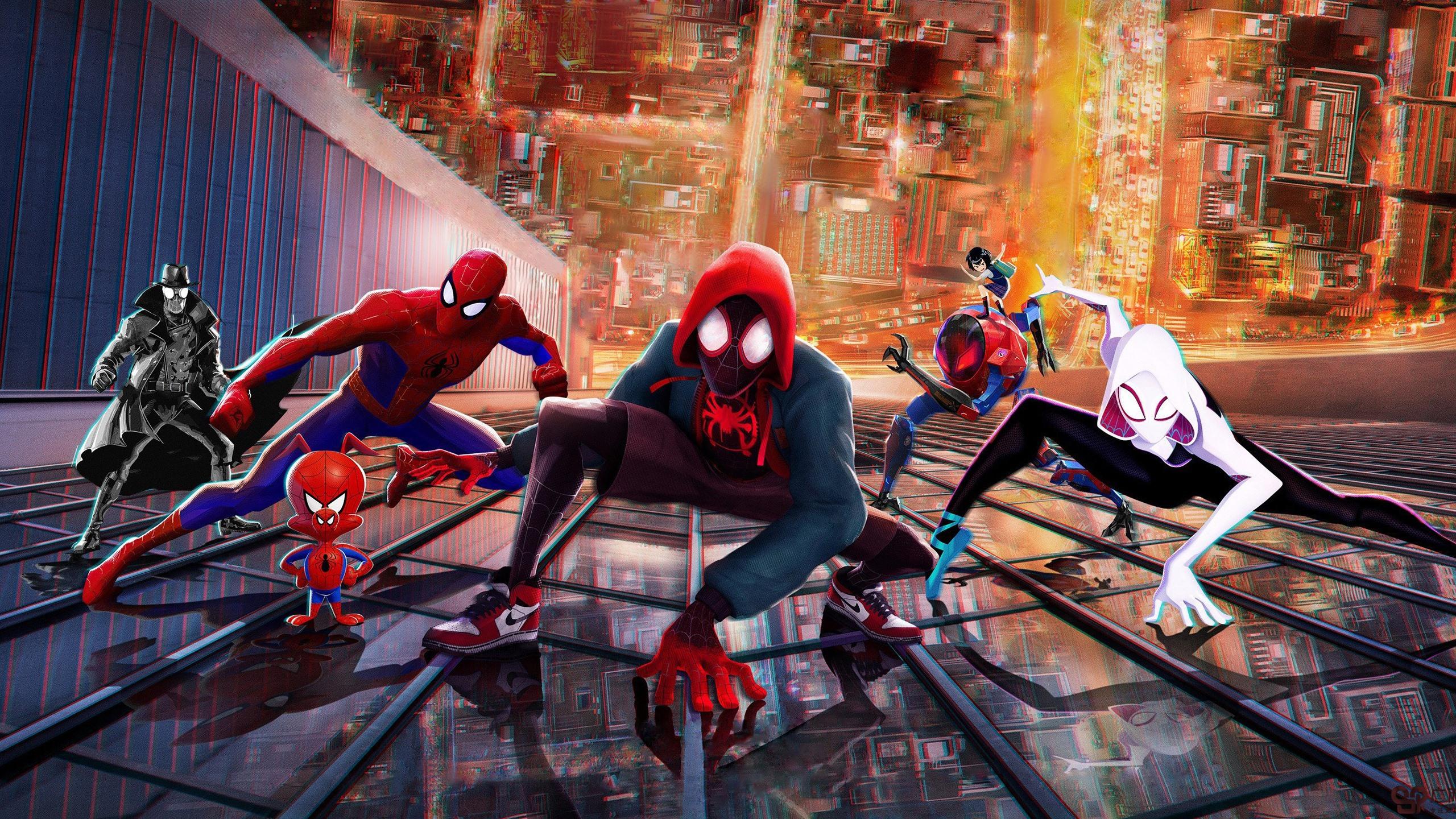 壁紙 スパイダーマン スパイダーバース Dcコミックス映画 2560x1440