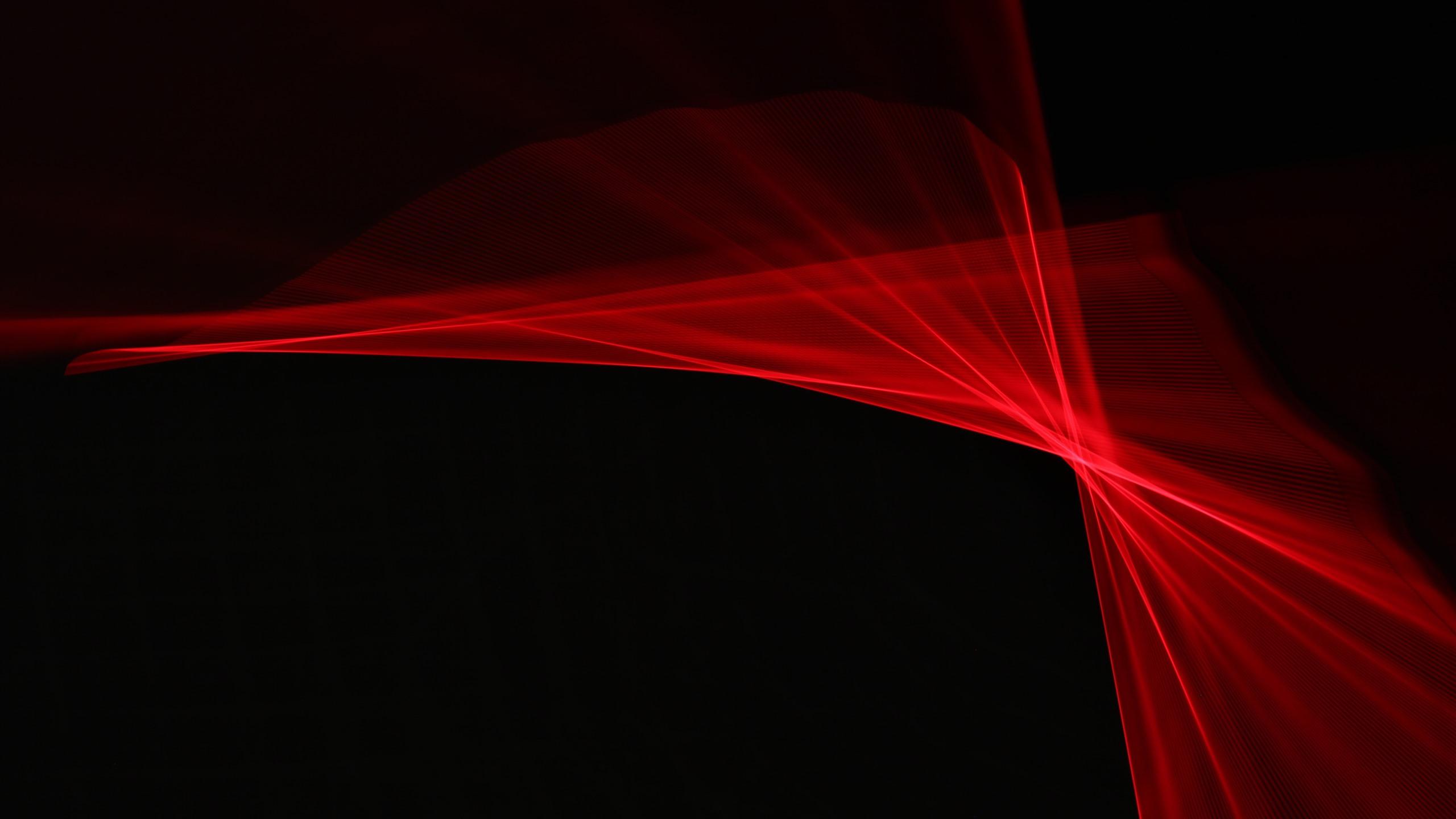 Fonds Décran Rayons Rouges Abstrait Fond Noir 3840x2160