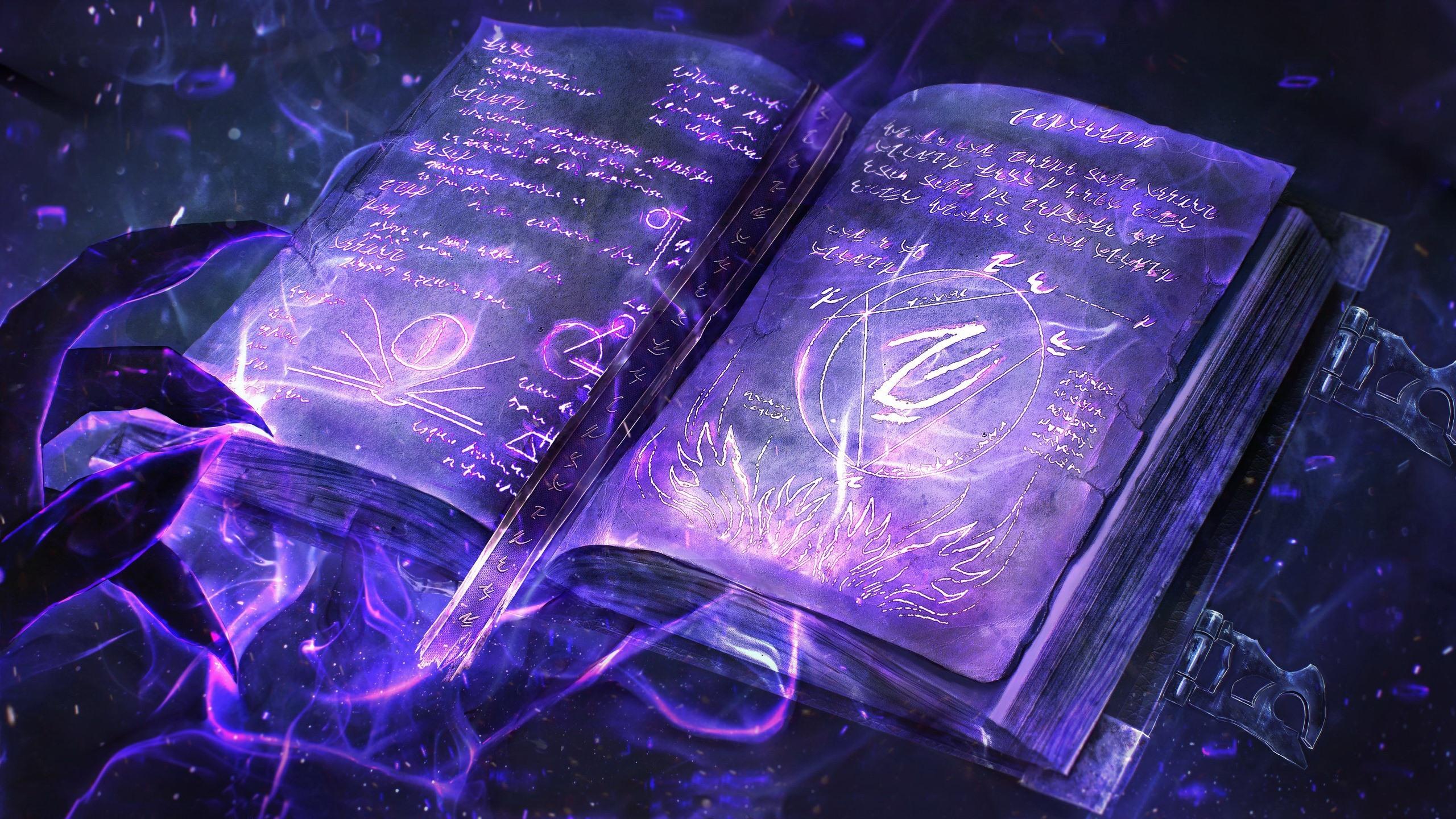 Wallpaper Magic Book Creative 2560x1440 Qhd Picture Image