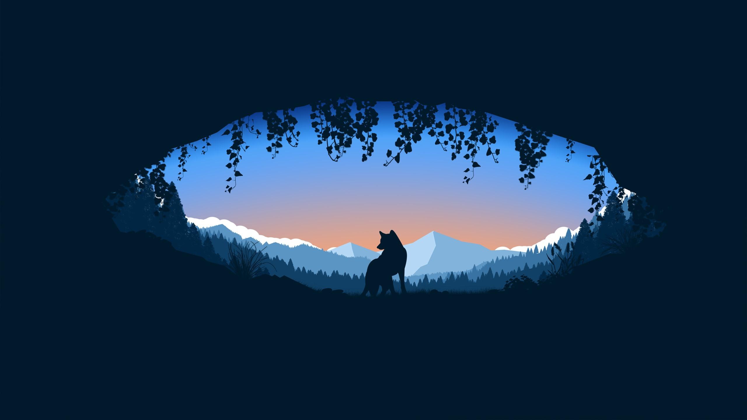 壁紙 オオカミ 穴 山 シルエット アート写真 2560x1440 Qhd 無料のデスクトップの背景 画像