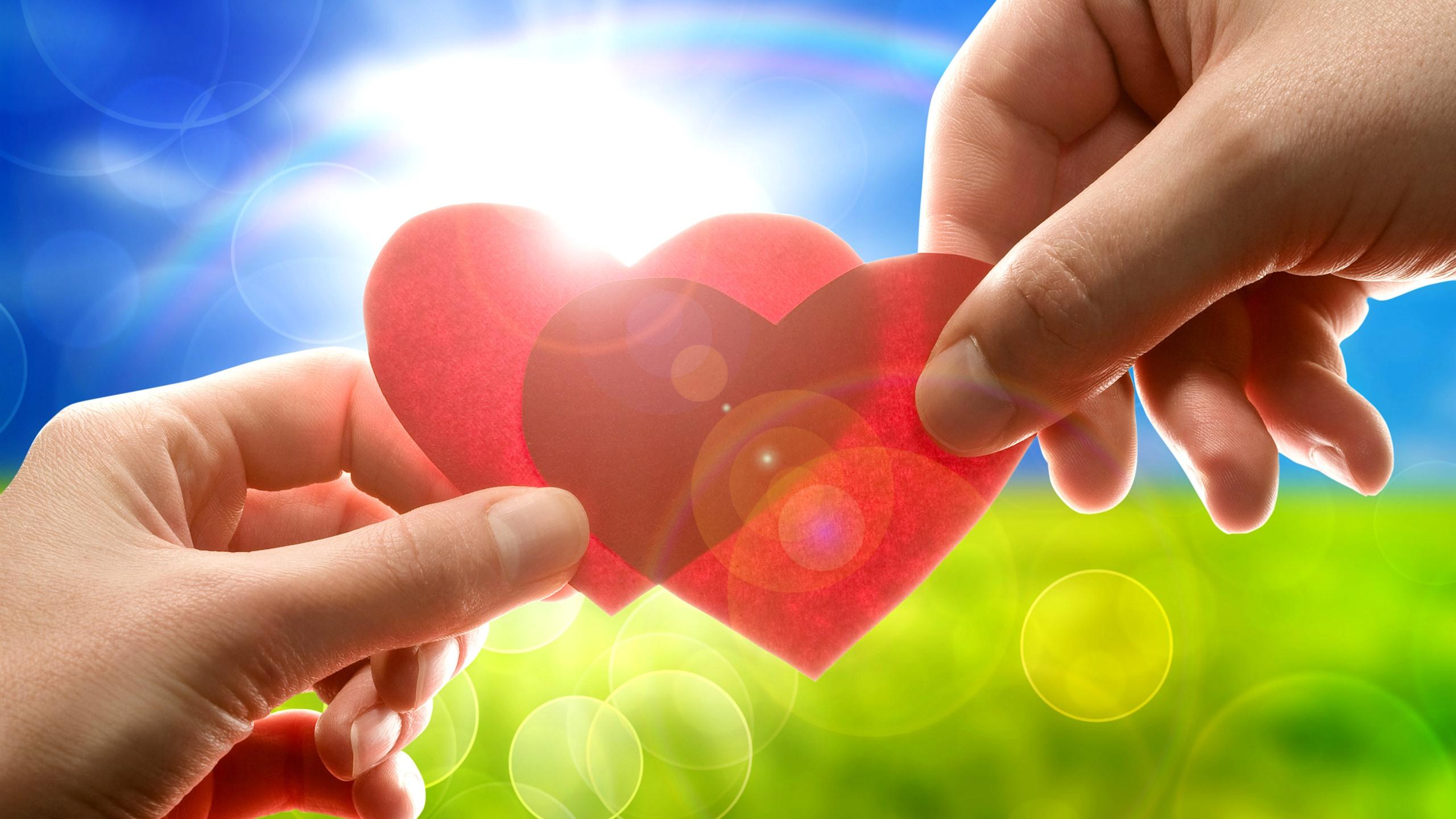 Картинка радость большие два сердца