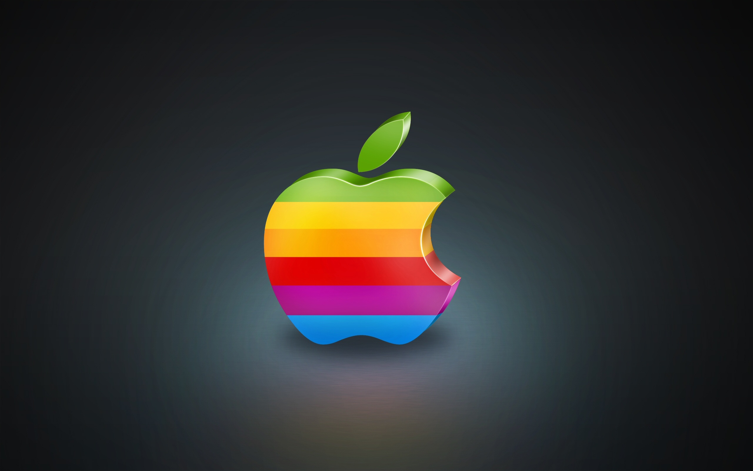 3d bunte apple hintergrundbilder 2560x1600
