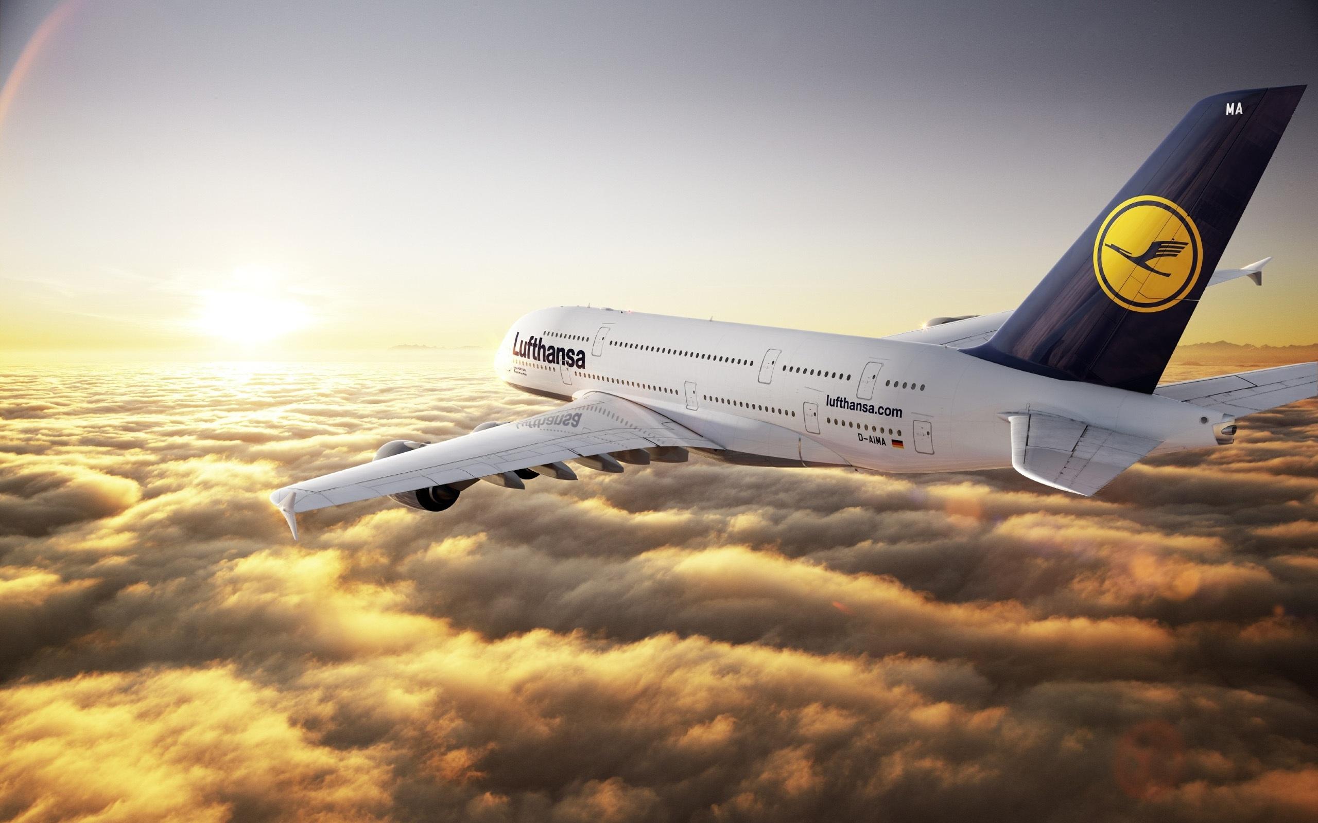 Airbus A380-Flug Wolken Hintergrundbilder - 2560x1600