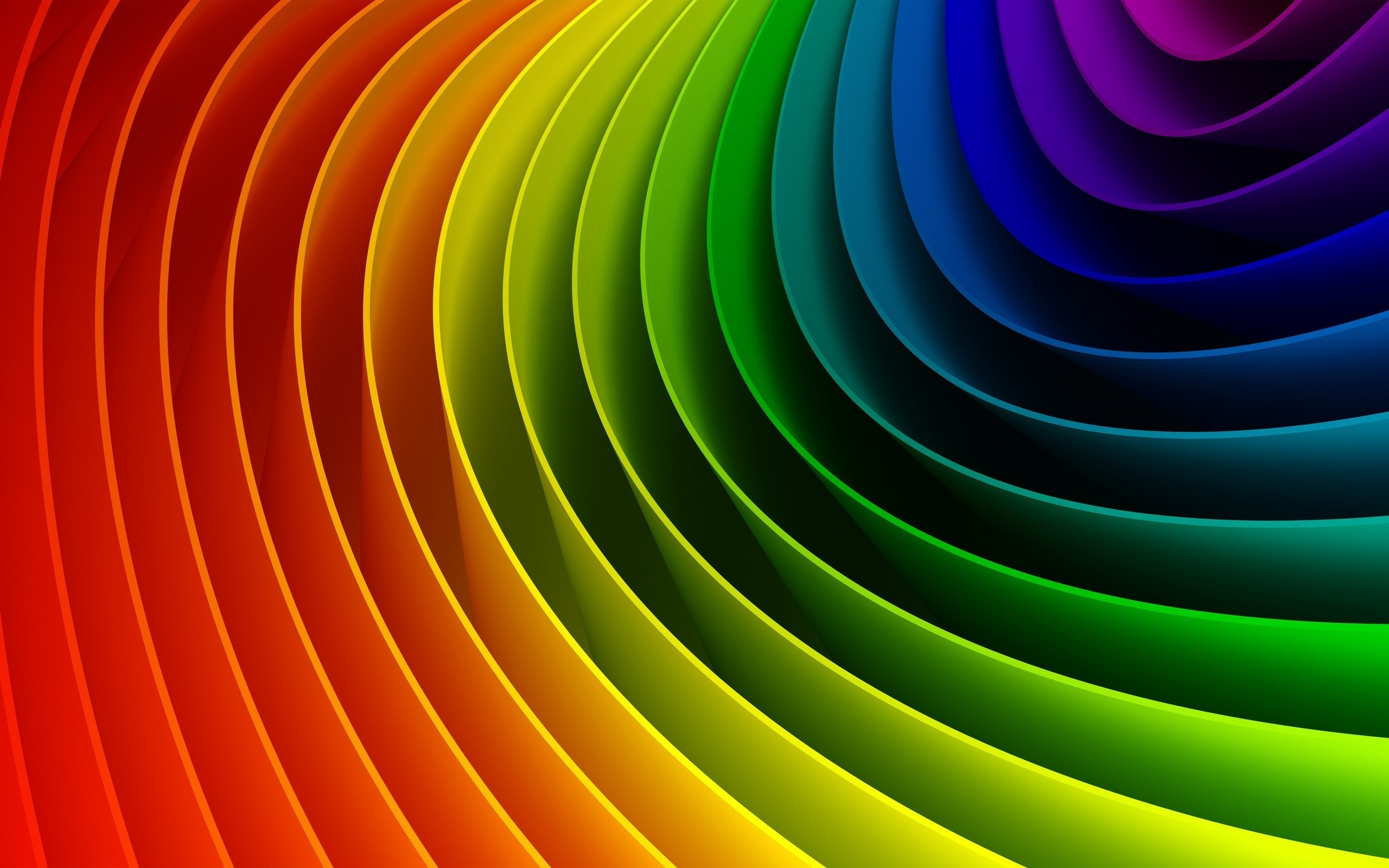 壁纸 弯曲缤纷的彩虹 2560x1600 Hd 高清壁纸 图片 照片