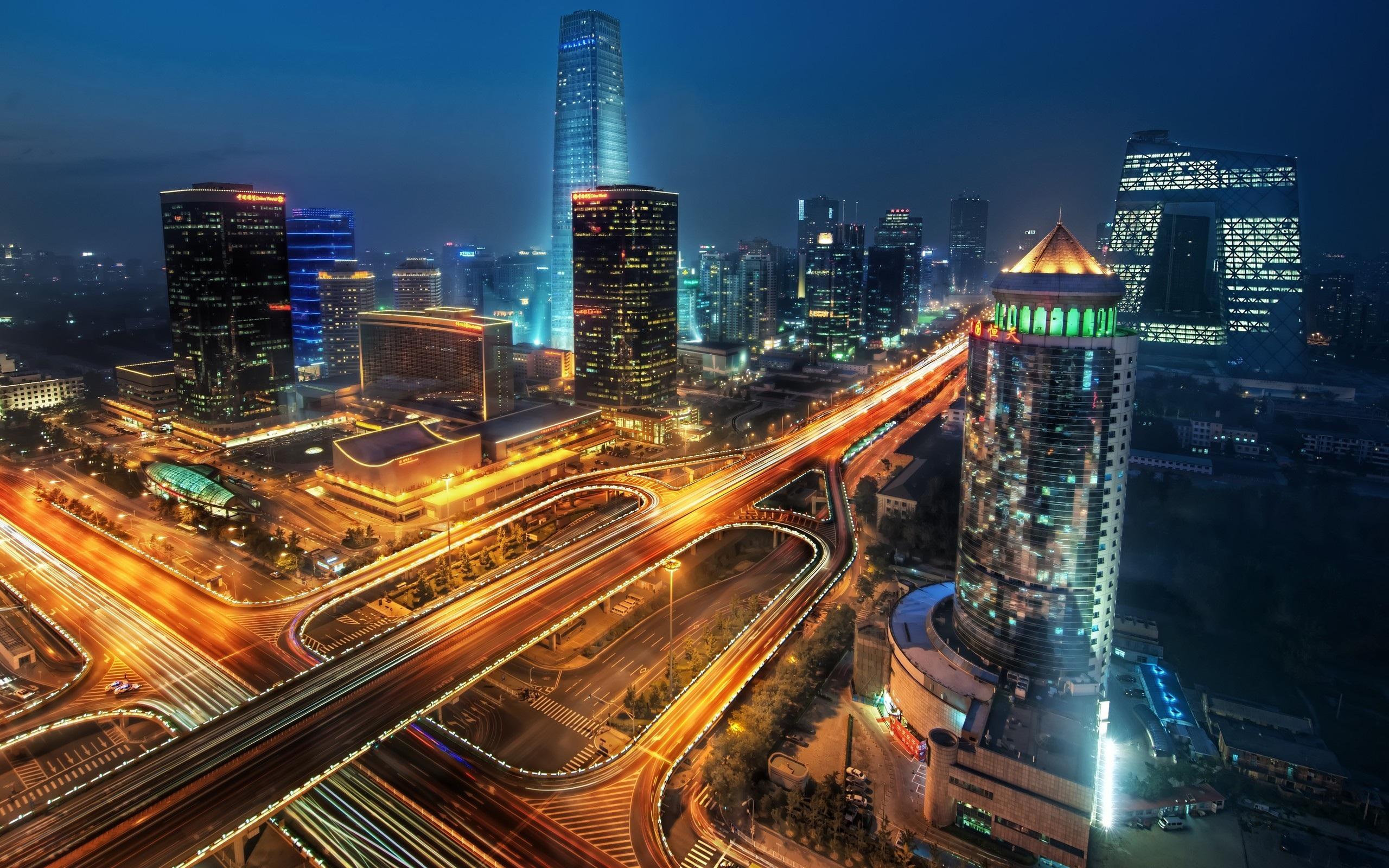 壁紙 高層ビルの夜景 2560x1600 Hd 無料のデスクトップの背景 画像