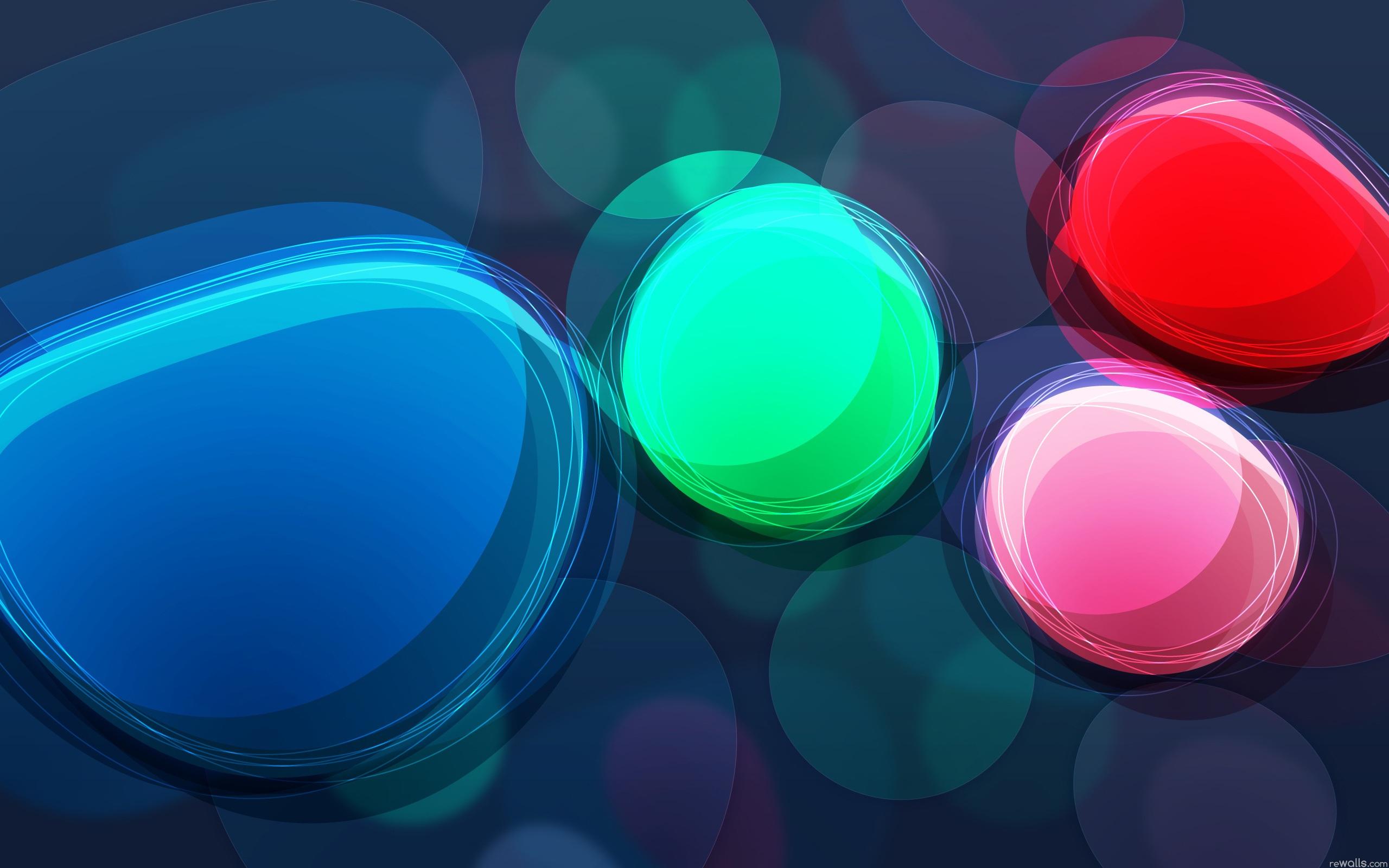 Rainbow Circles Wallpaper Abstract Rainbow Circles