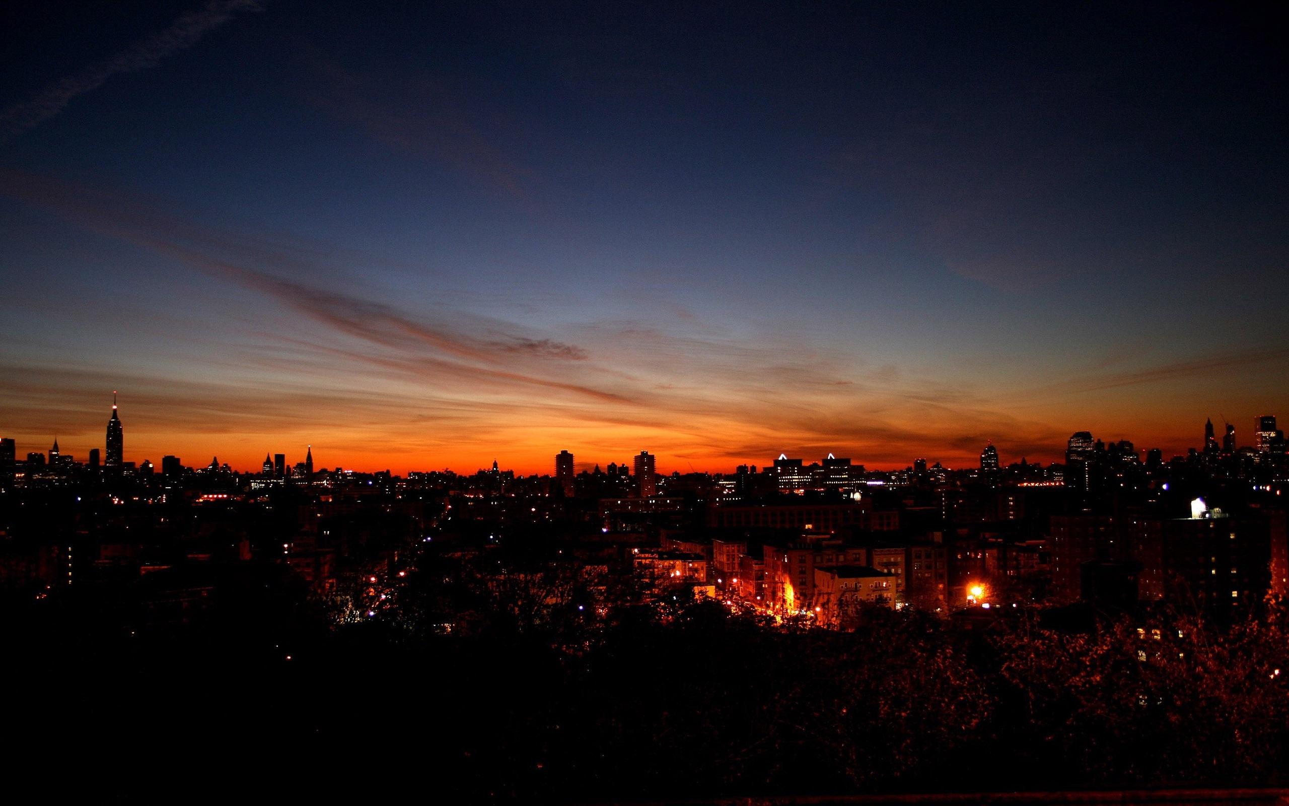 壁纸 夜晚的城市天空 2560x1600 HD 高清壁纸, 图片, 照片