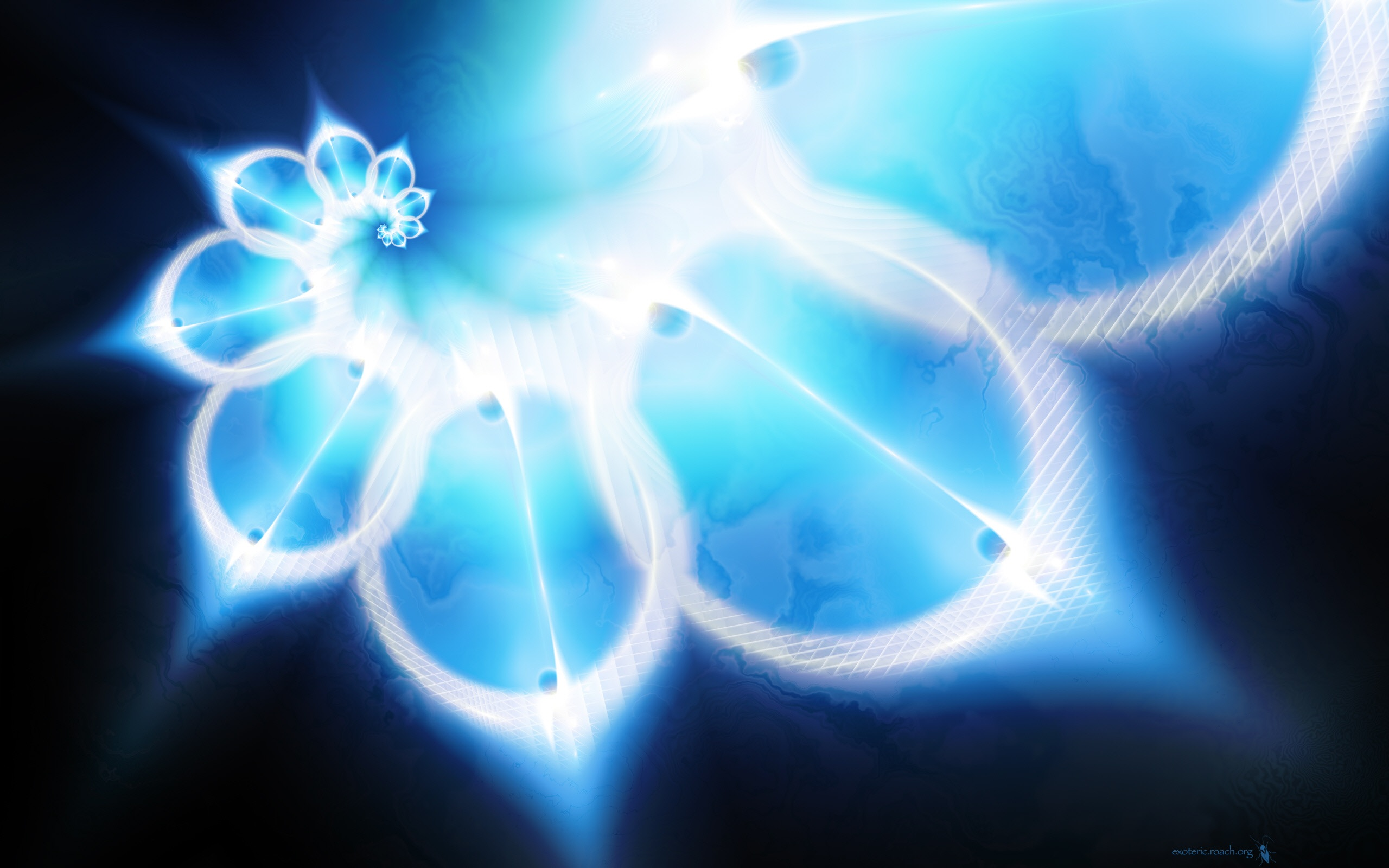 Wallpaper Blue Design Drawing 2560x1600 Hd Picture Image