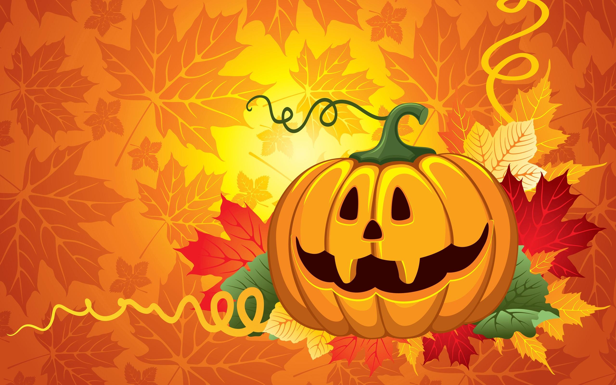 Wallpaper Halloween vector design 2560x1920 HD Picture Image