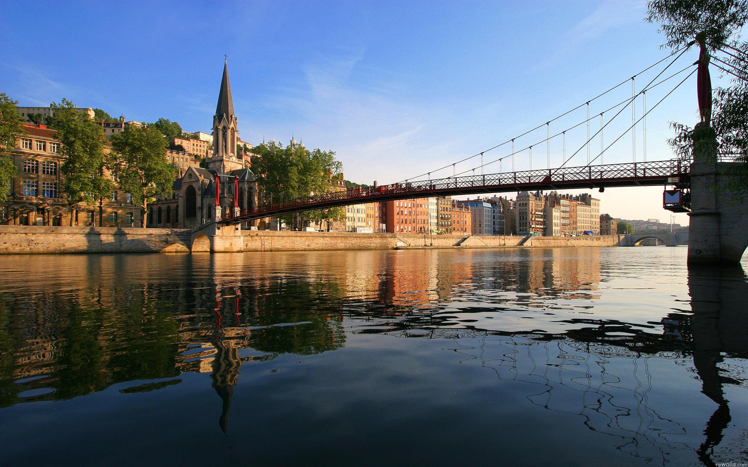 Город река мост  № 3888368 бесплатно