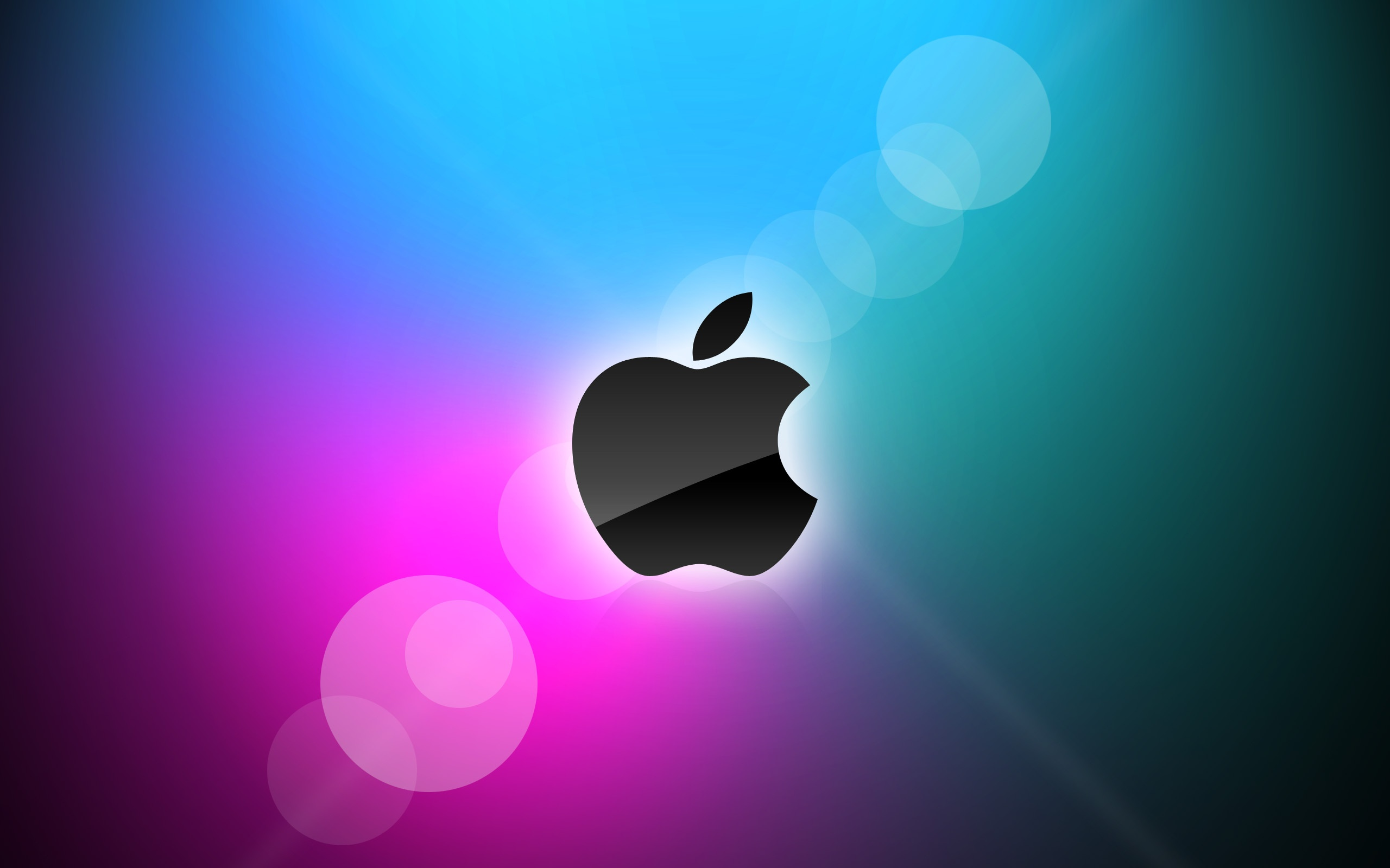 Wallpaper Apple Blue And Purple Background 2560x1600 Hd
