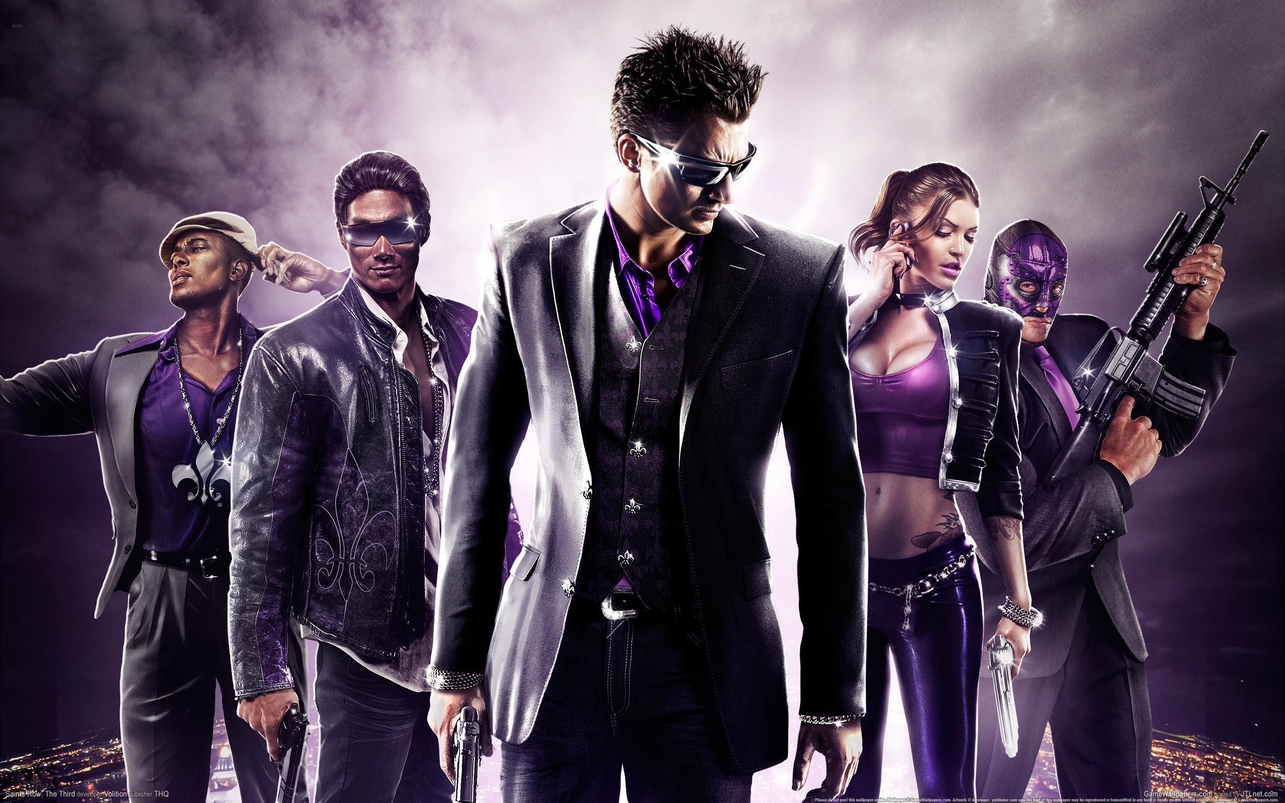 Saints row 3 game wallpapers in jpg format for free download.