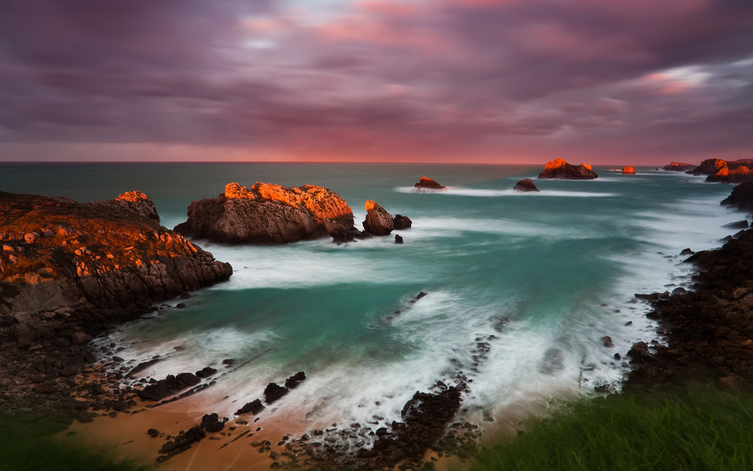Spain Cantabria sunset wallpaper - 2560x1600