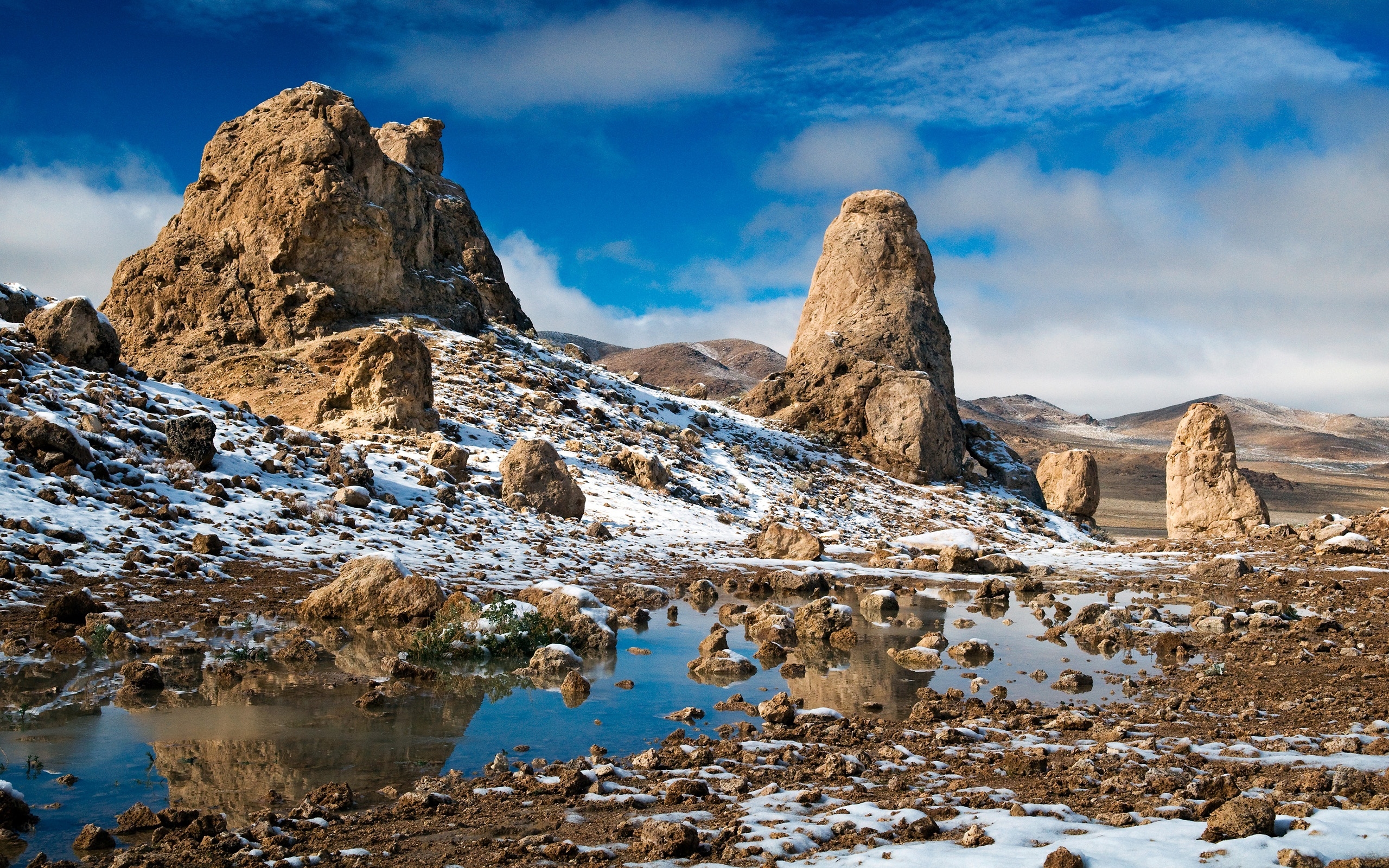 壁紙 荒野の岩雪 2560x1600 Hd 無料のデスクトップの背景 画像
