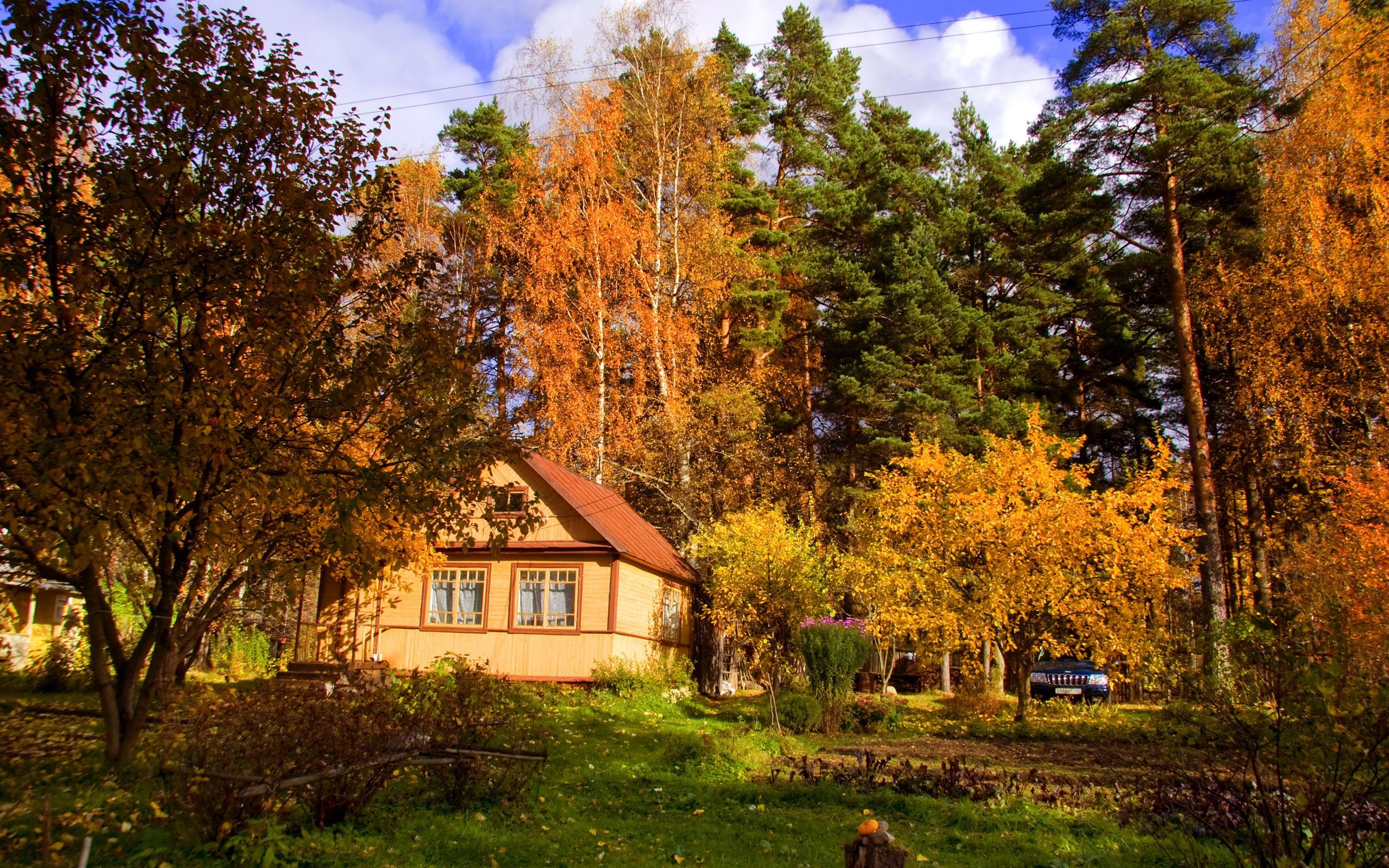 картинки осень на загородном доме этом основании