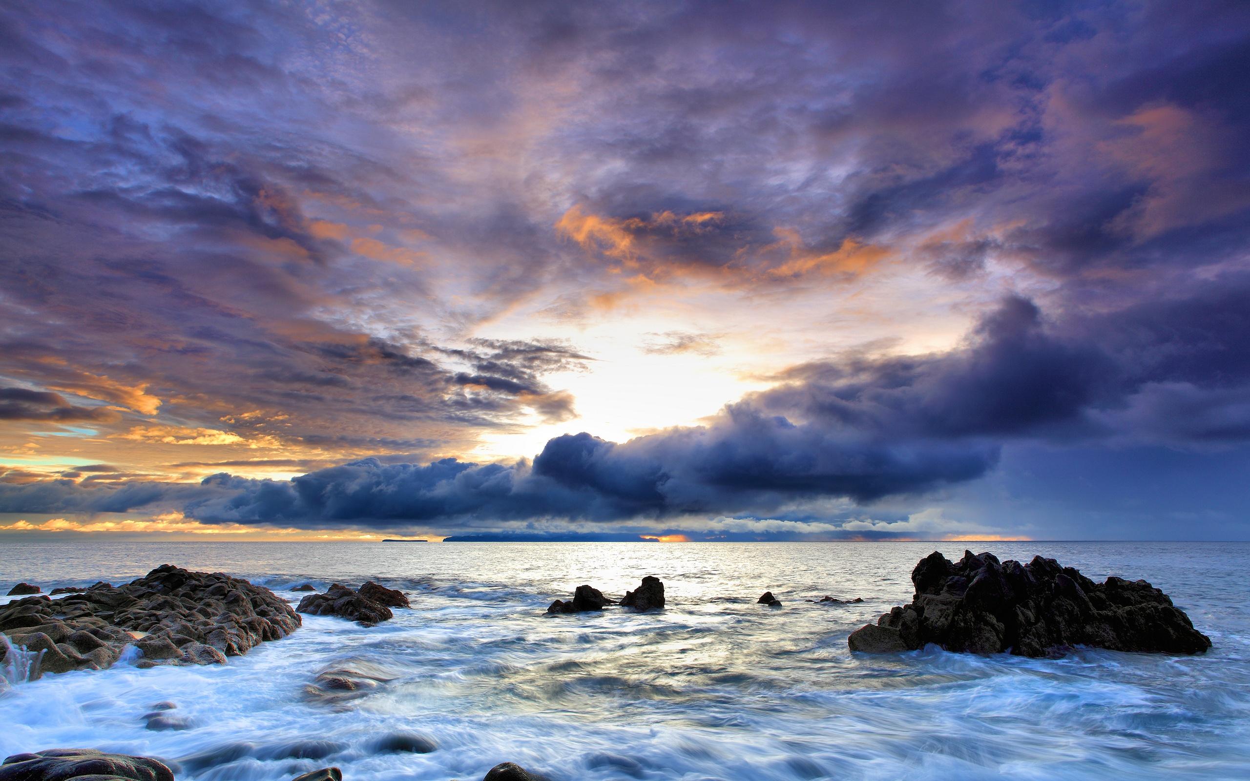Beautiful colorful ocean sky Wallpaper | 2560x1600 resolution ... Landscape