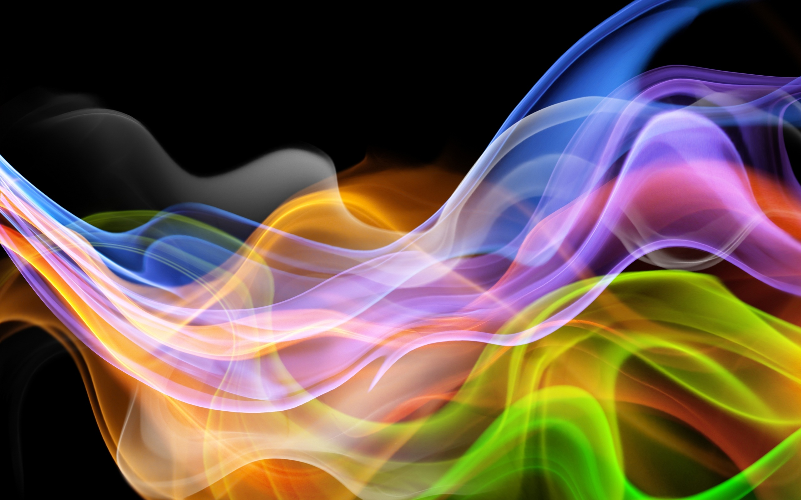 Wallpaper Abstract Colorful Curve Background 2560x1600 Hd