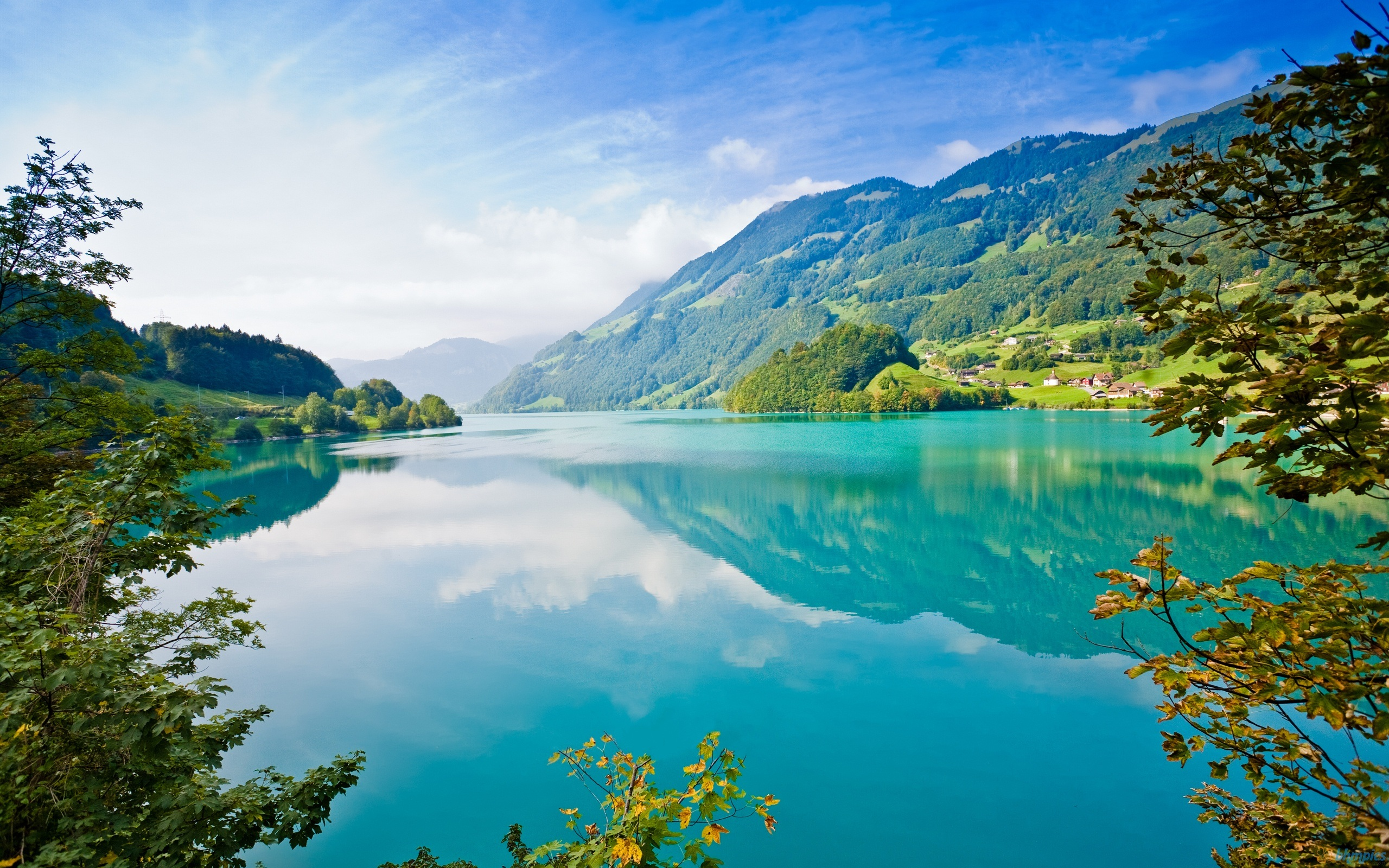 Wallpaper Beautiful Blue Water Green Nature 2560x1600 Hd Picture Image