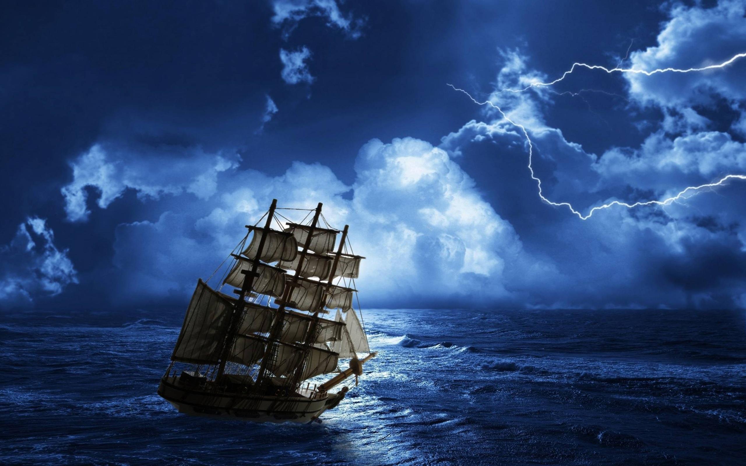 ночь яхта корабль  № 3498281 бесплатно