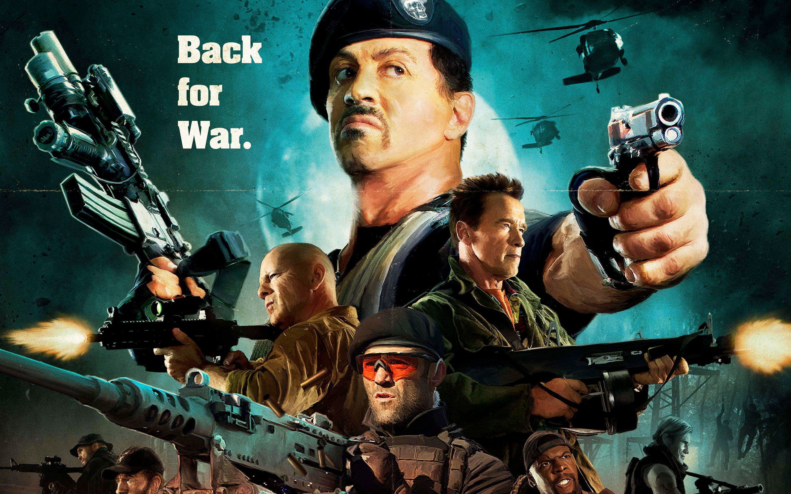wallpaper the expendables 2, sylvester stallone hd 2560x1600 hd