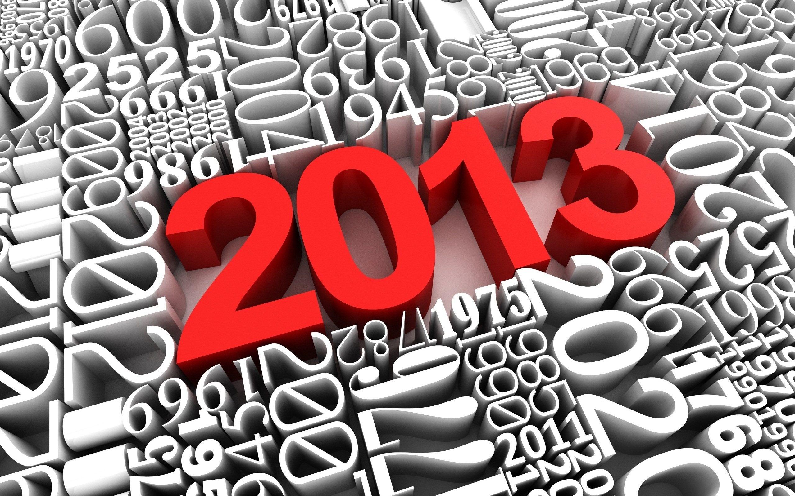 3D creativo, rojo 2013 Año Nuevo Fondos de pantalla - 2560x1600