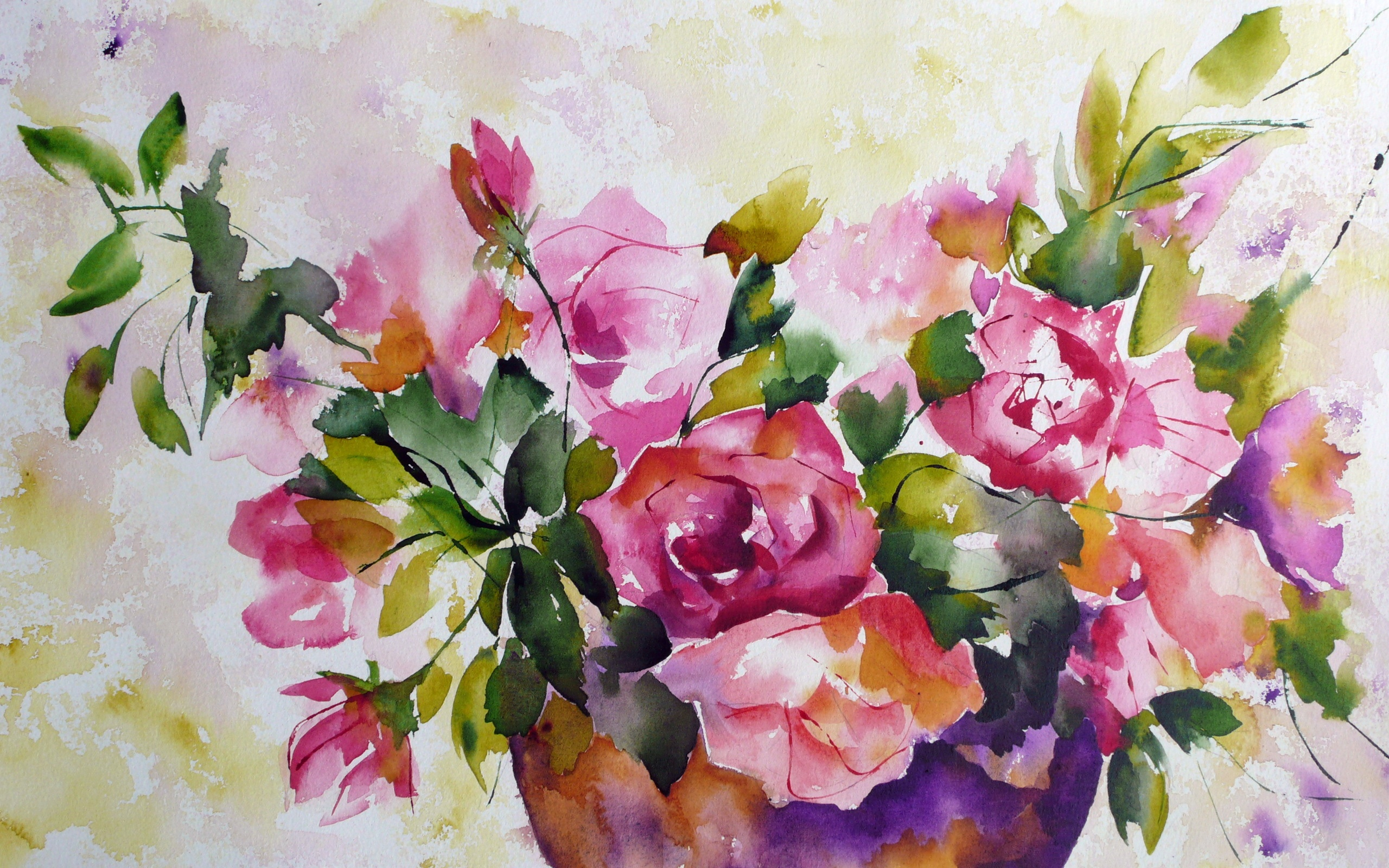 Watercolor Painting Of Flowers 750x1334 Iphone 8 7 6 6s