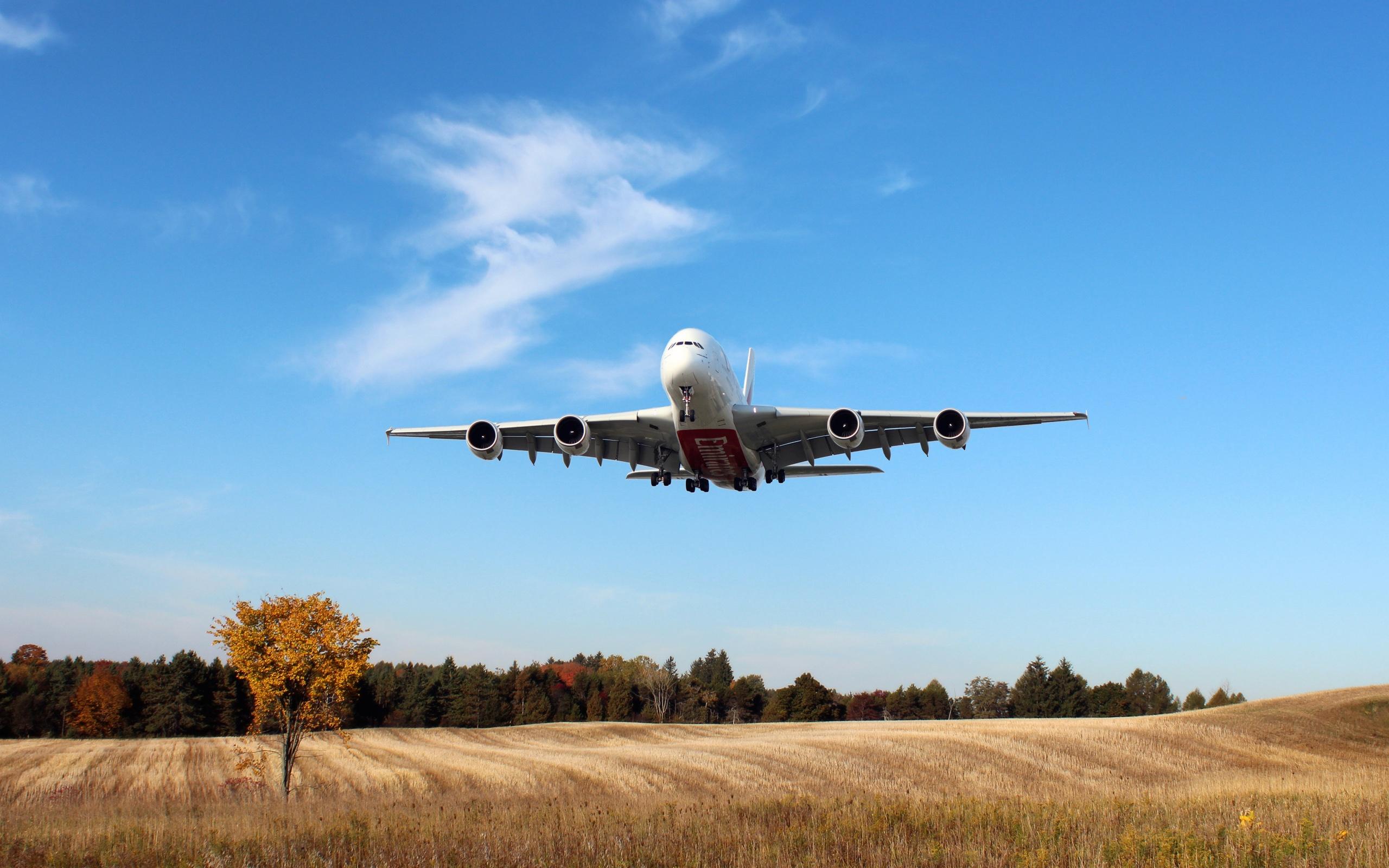 Авиалайнер в воздухе  № 2357394  скачать