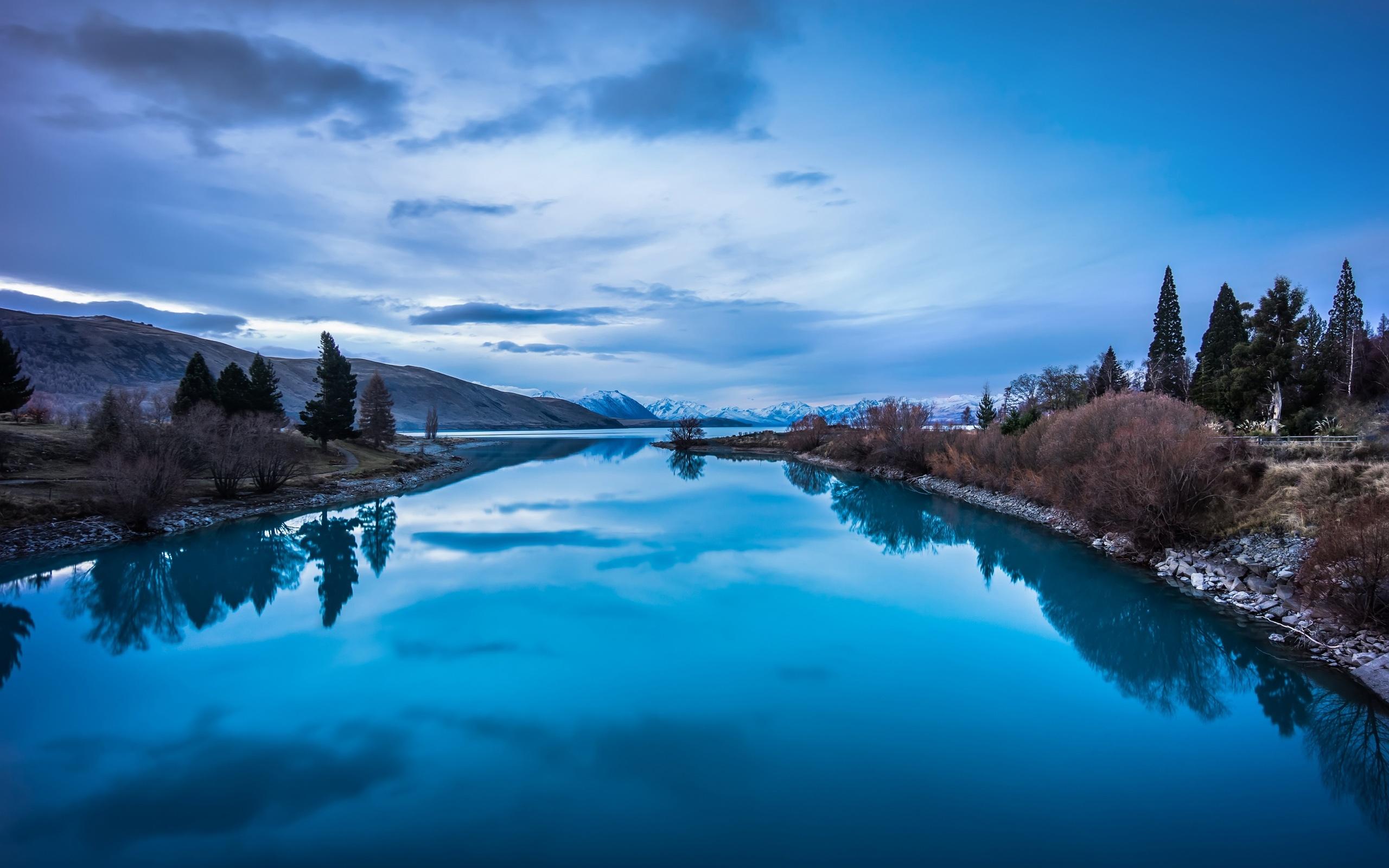 푸른 자연 풍경, 산, 호수 반사 배경 화면 | 2560x1600 배경 화면 다운로드 | KR.Best-Wallpaper.Net