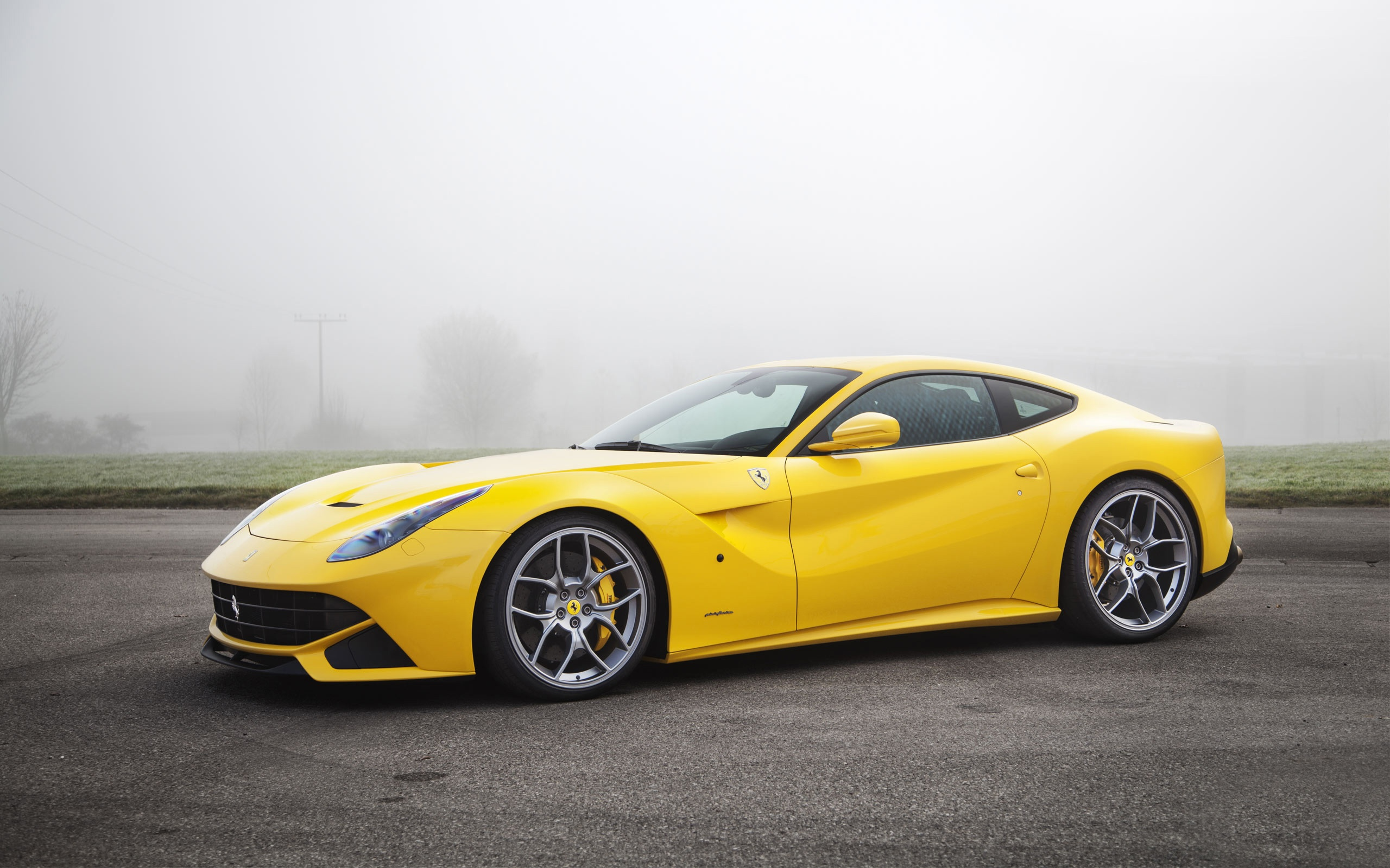 Wallpaper Ferrari F12 Yellow Supercar 2560x1600 Hd Picture Image