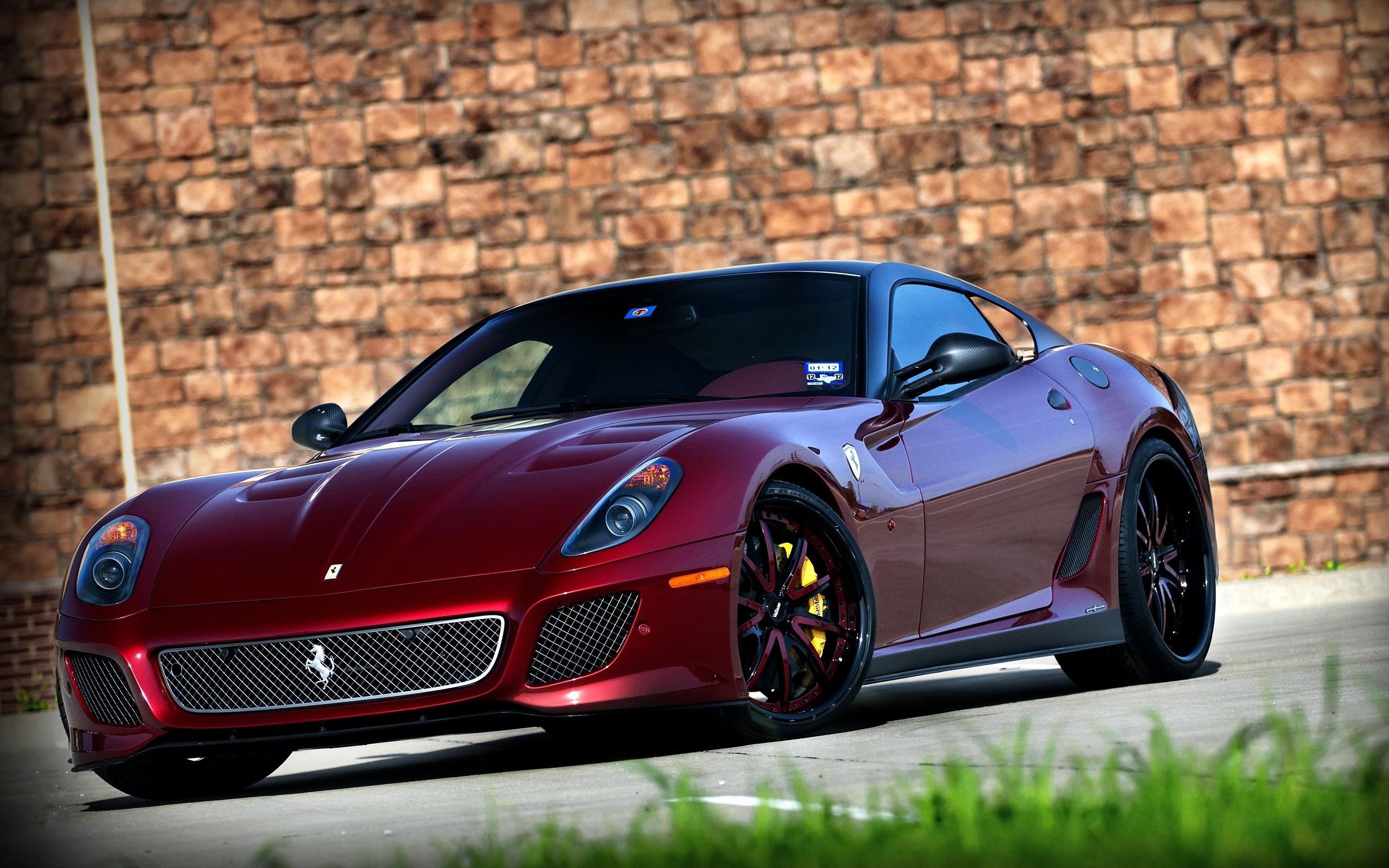 Wallpaper Ferrari 599 Gto Dark Red Car 2560x1600 Hd Picture Image