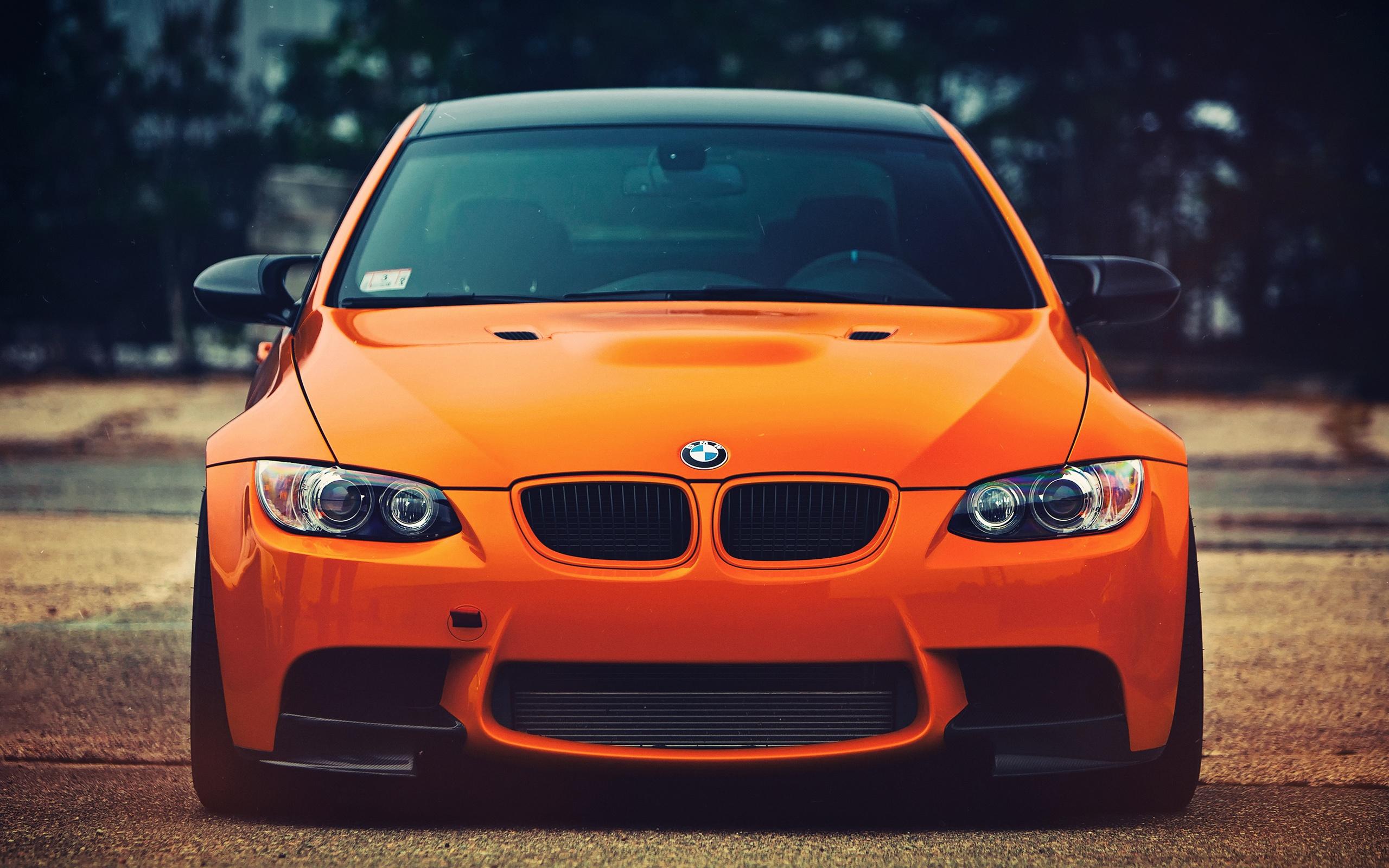 Wallpaper Bmw M3 Orange Car Front View 2560x1600 Hd Picture Image