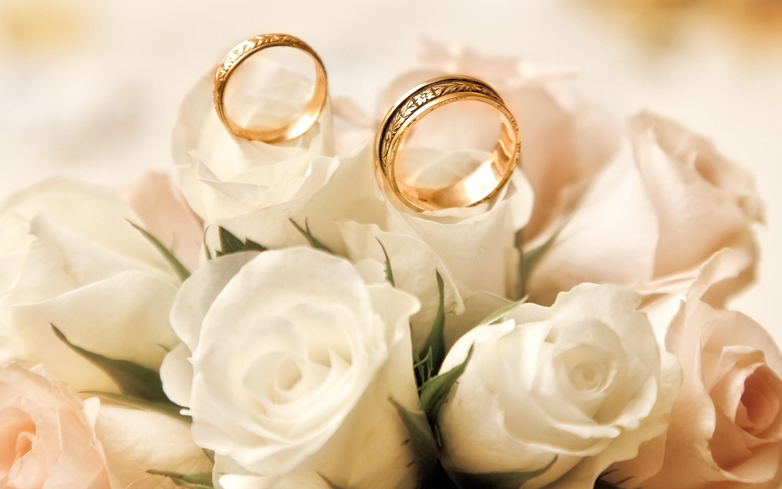 Les Anneaux De Fian&231ailles Roses Blancs Boutons