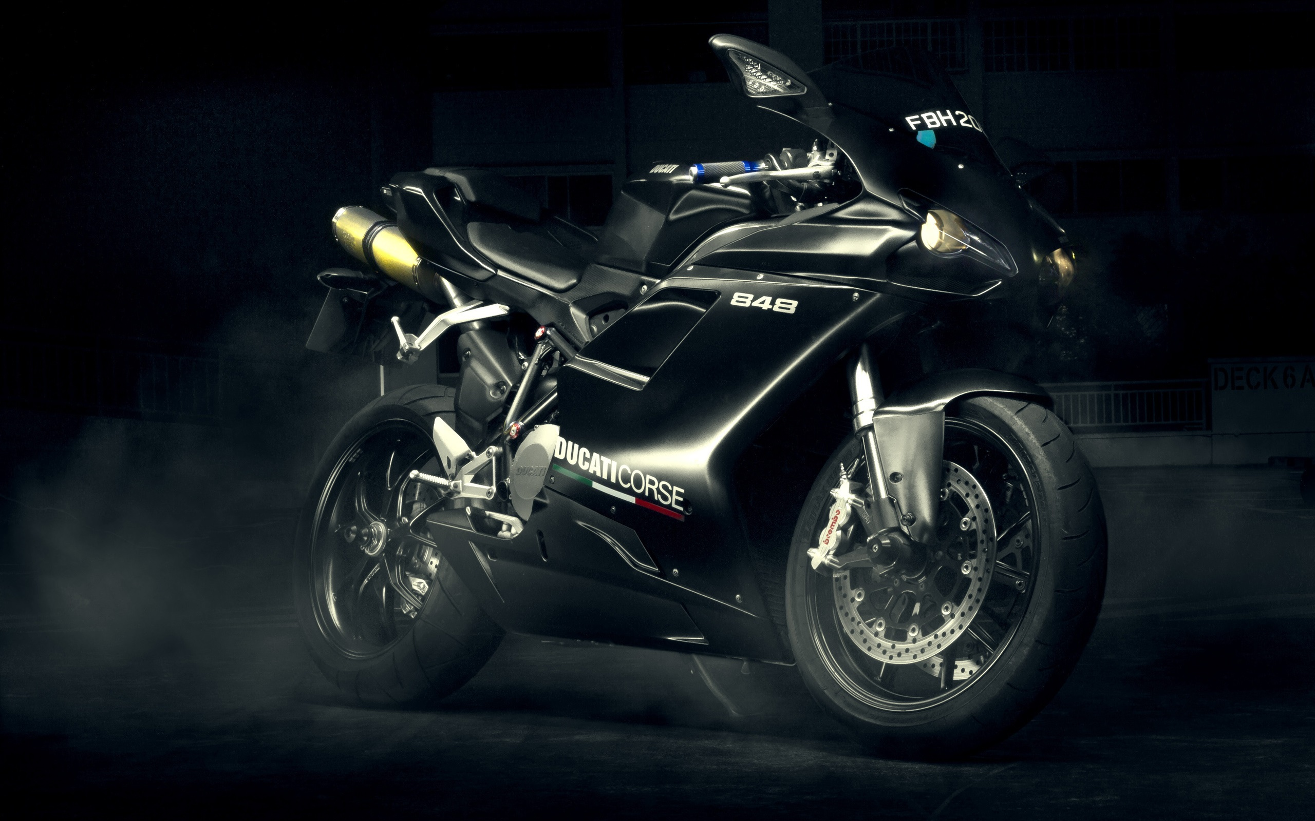Wallpaper Ducati 848 Evo Black Motorcycle 2560x1600 Hd